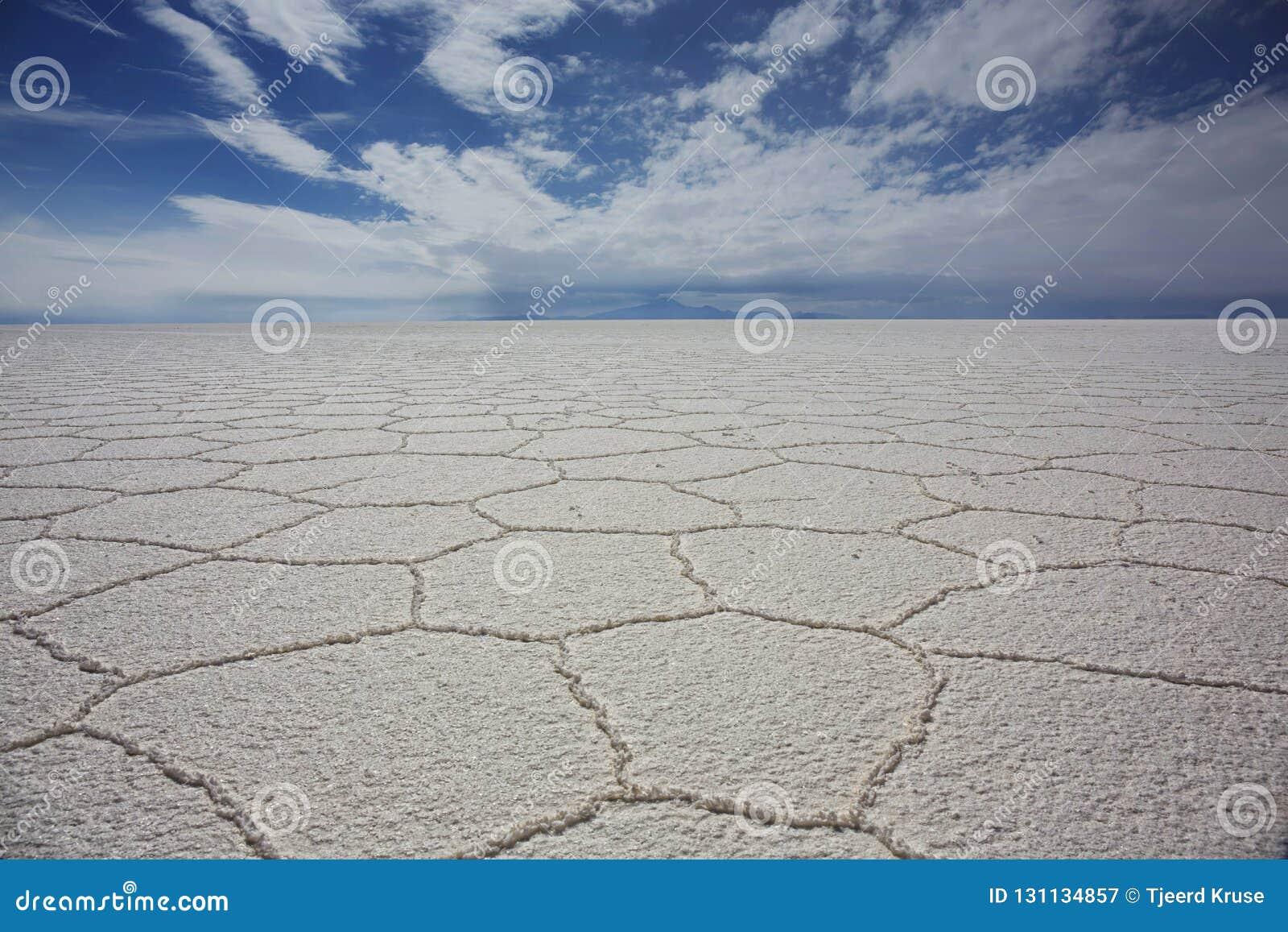 Szenische Ansicht von Salar De Uyuni Against Clear Sky