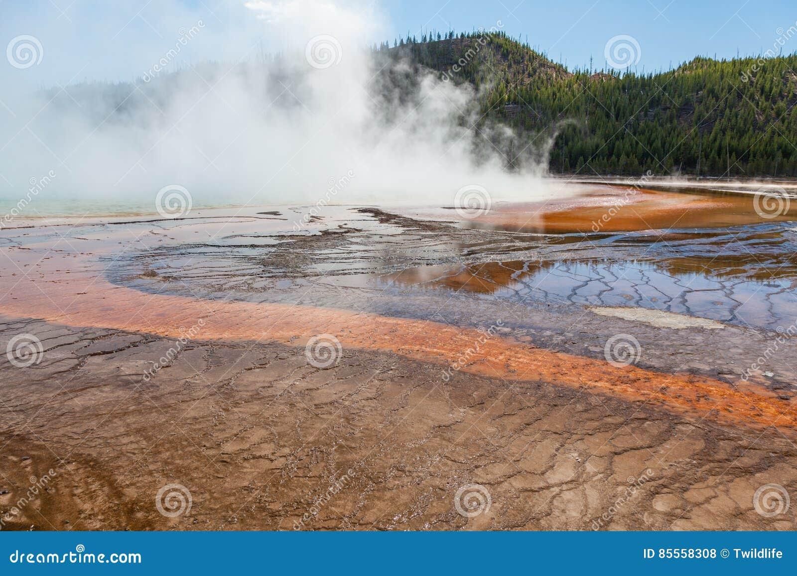 Szenische geothermische heiße Quellen Yellowstone