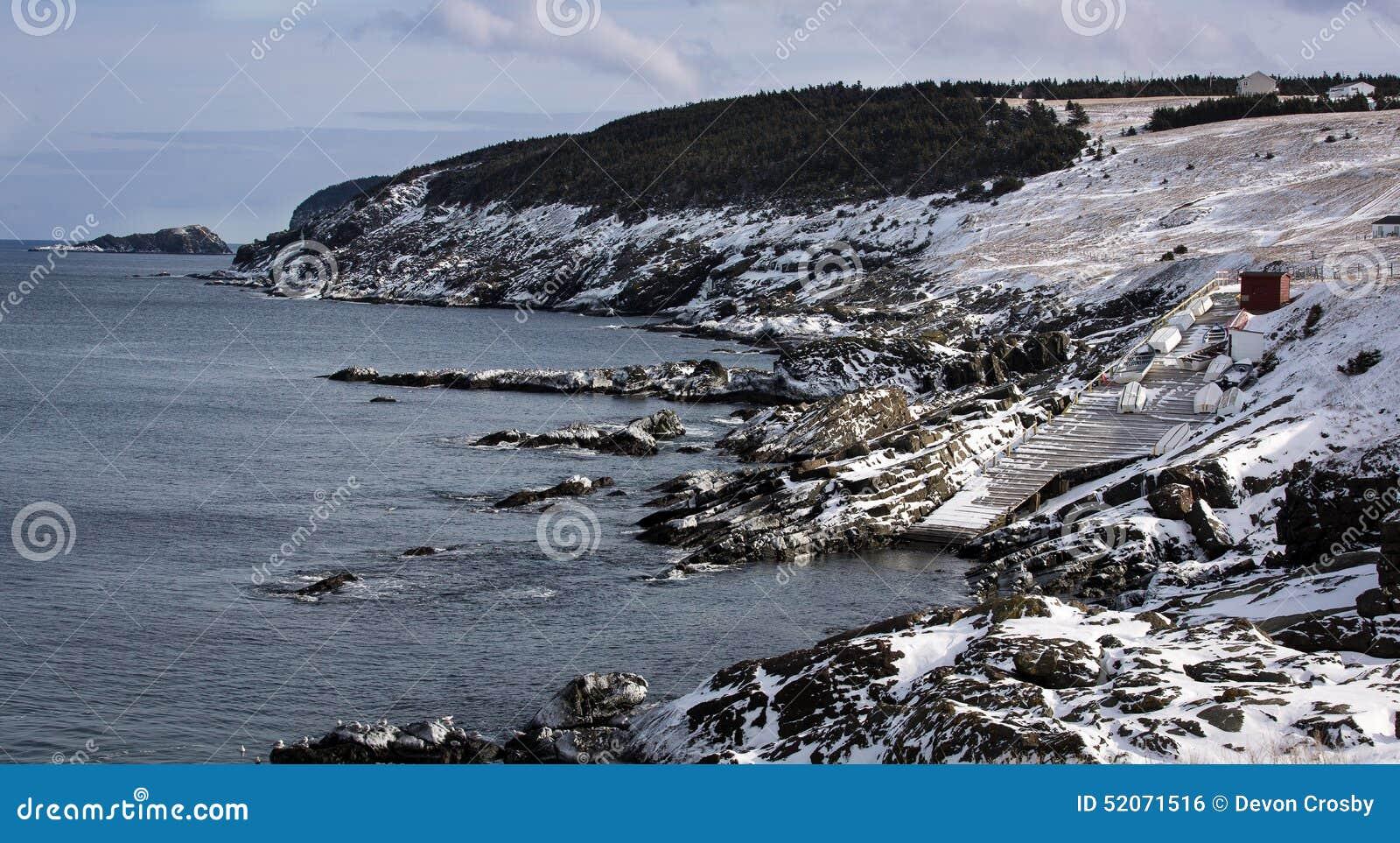 Szenische Küstenlinie in der Beutel-Bucht, Neufundland und Labrador