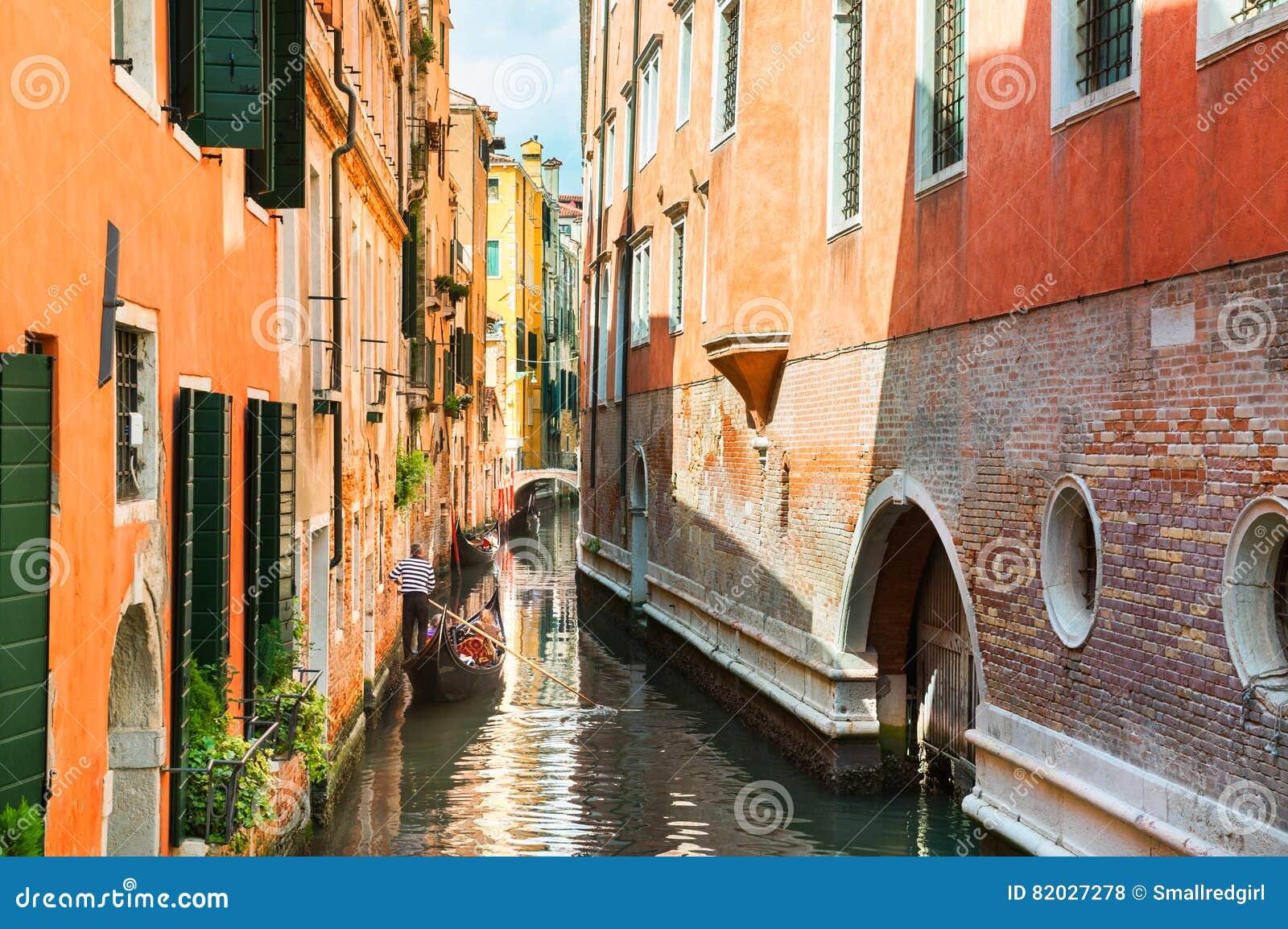 Szenischer Kanal in Venedig, Italien