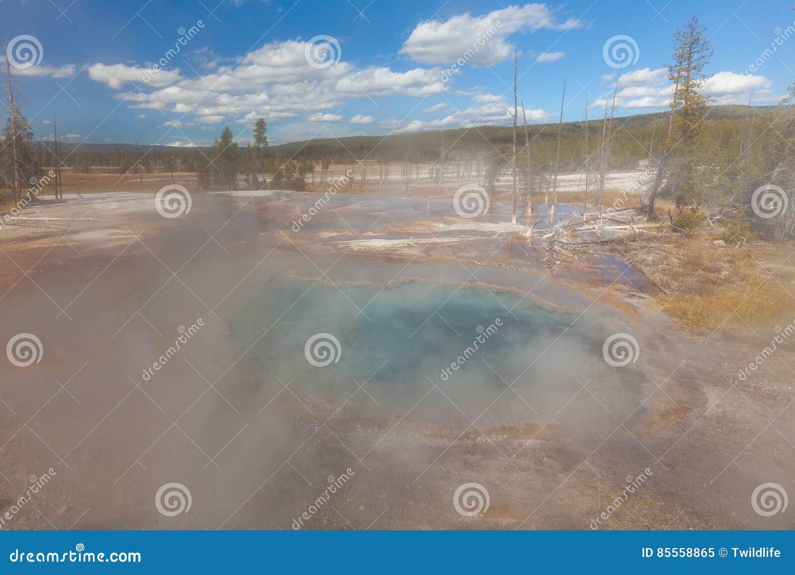 Szenisches geothermisches Yellowstone Nationalpark der heißen Quellen