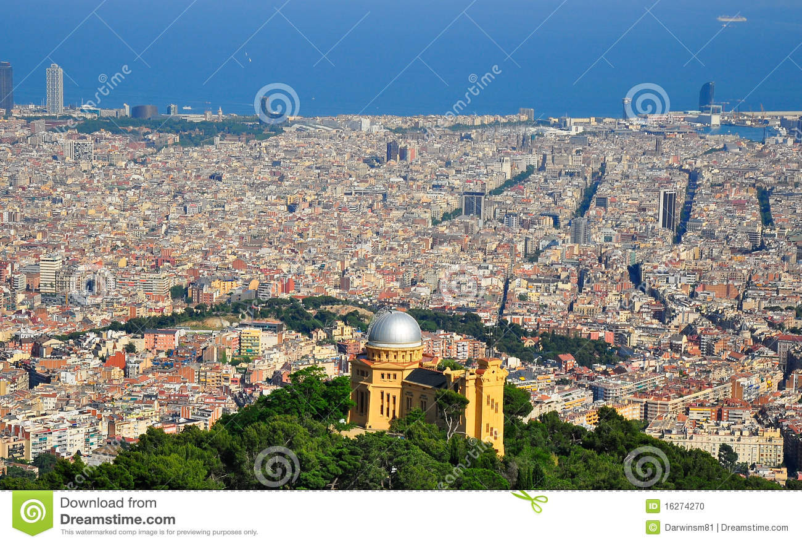Szeroki Barcelona widok Spain
