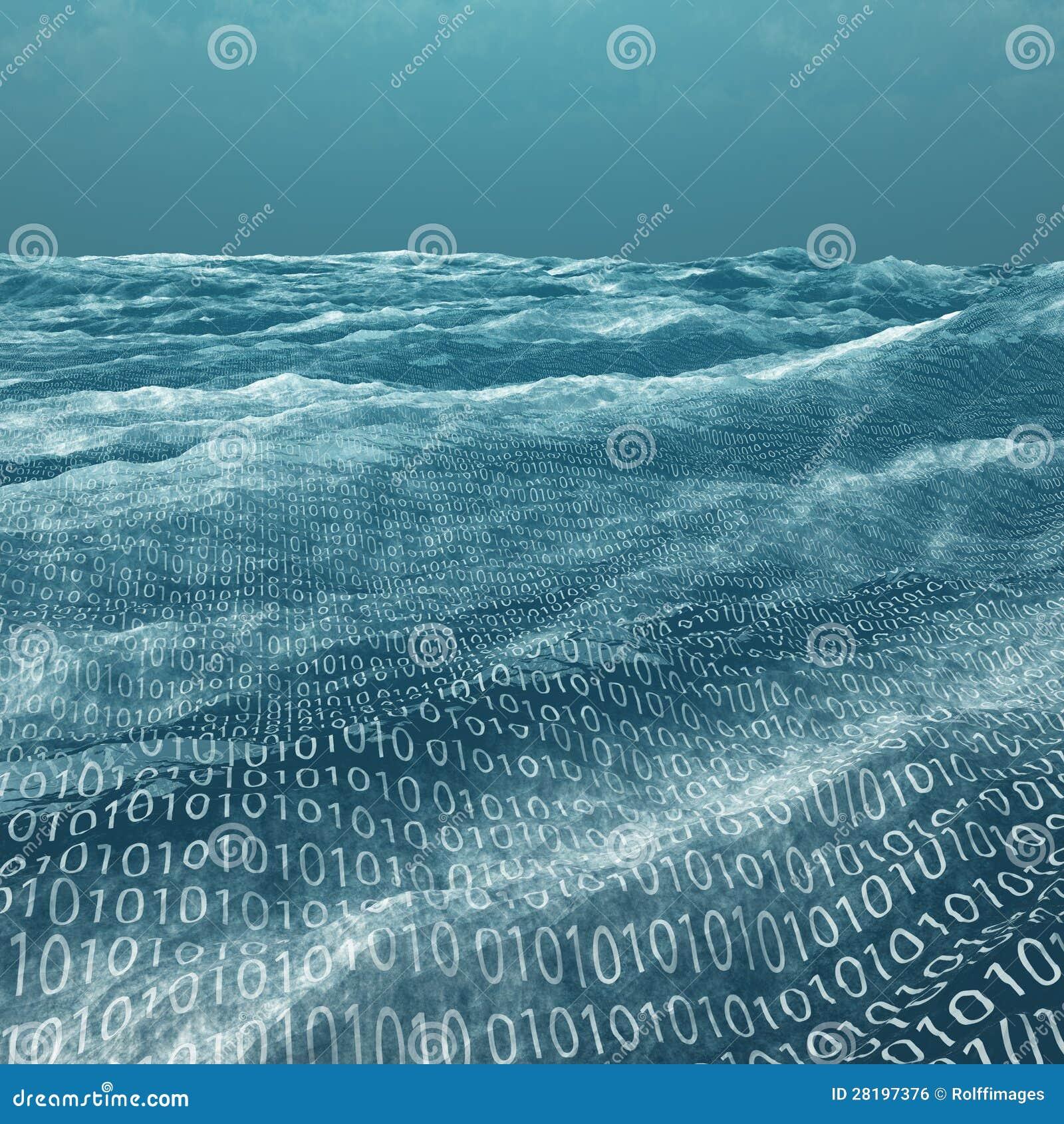 Szeroki binarnego kodu morze