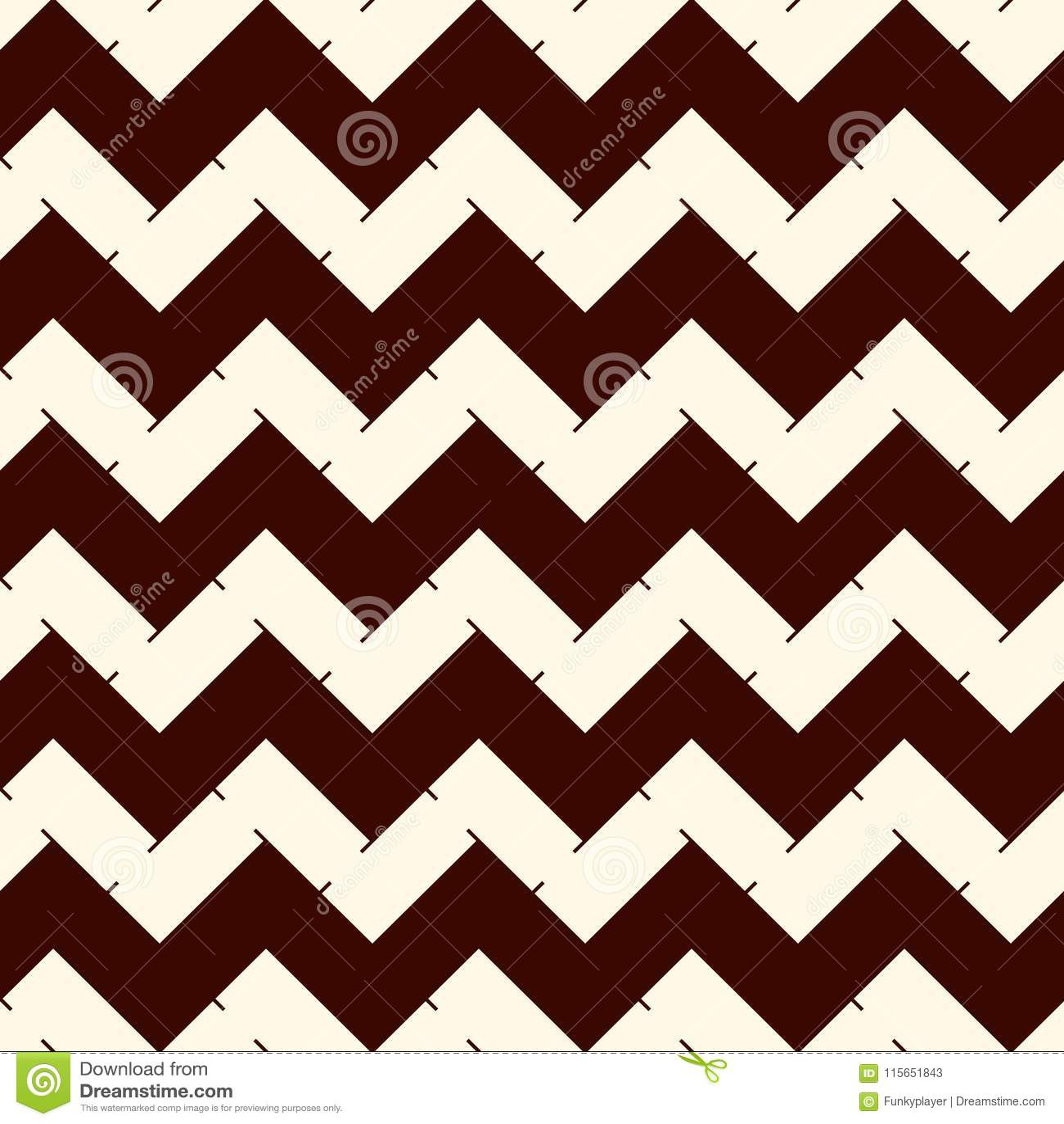 Szewron paskuje tło Retro stylowy bezszwowy wzór z klasycznym geometrycznym ornamentem Zygzag wykłada tapetę