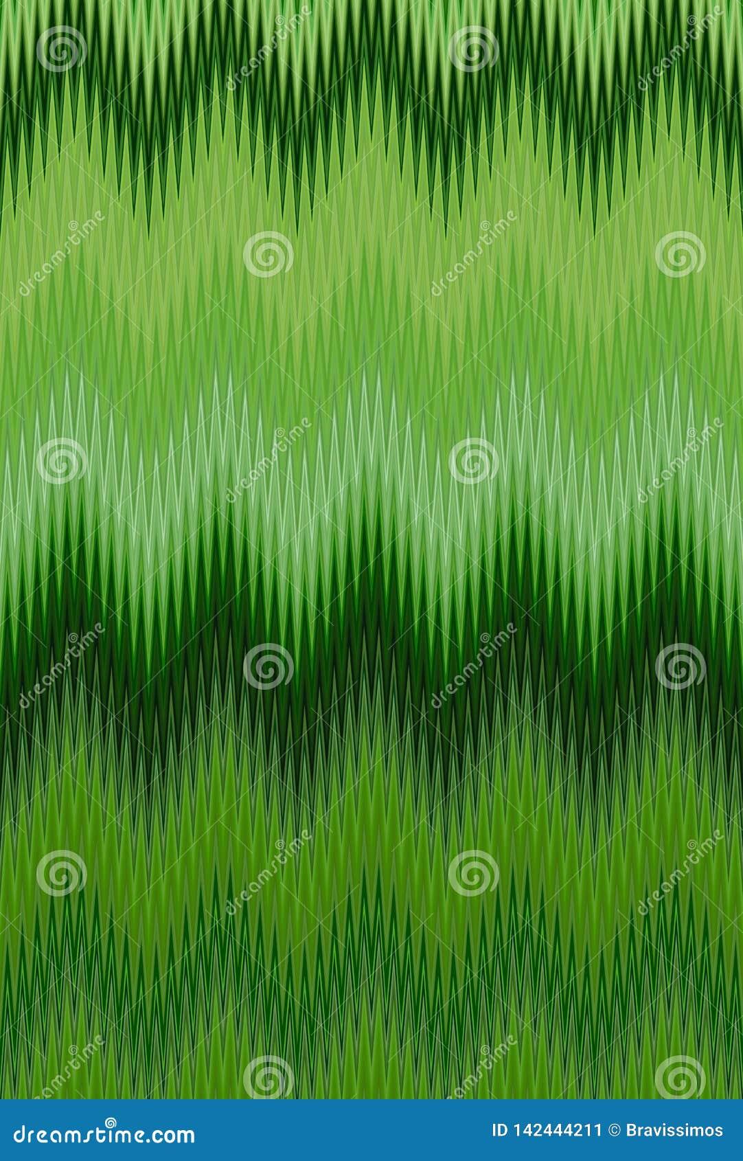 Szewronu ulistnienia trawy zielony lato dekoruje