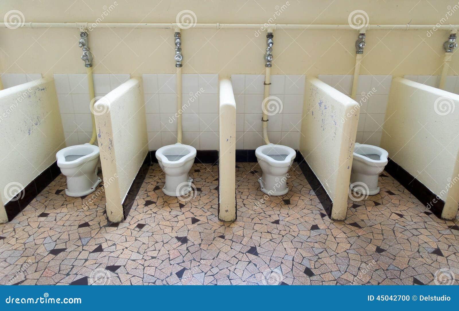 Szkół Podzielone Toalety Zdjęcie Stock Obraz Złożonej Z