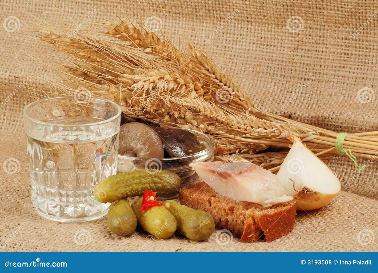 Szkło ajerówka i jedzenie
