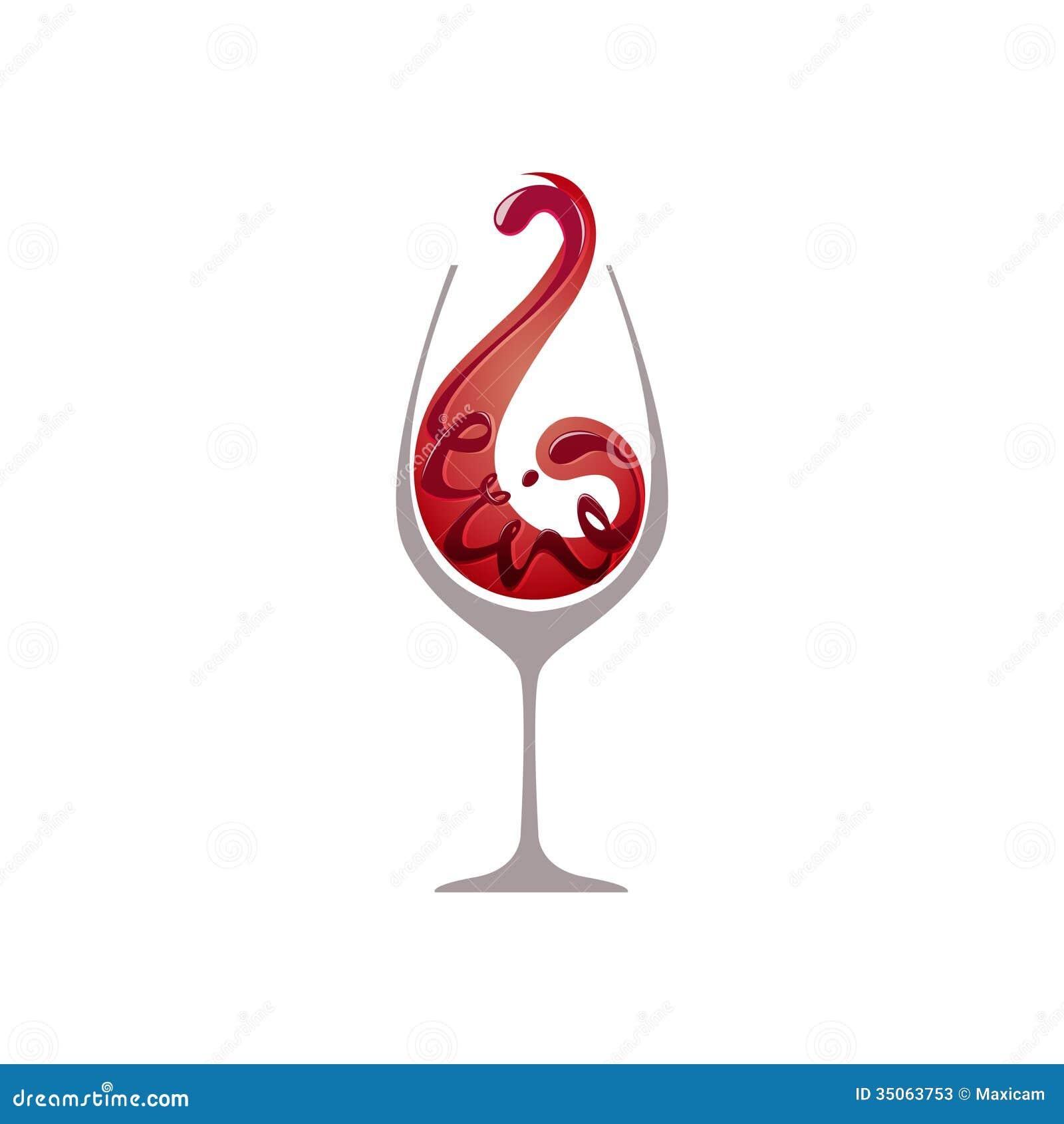 Szkło czerwone wino