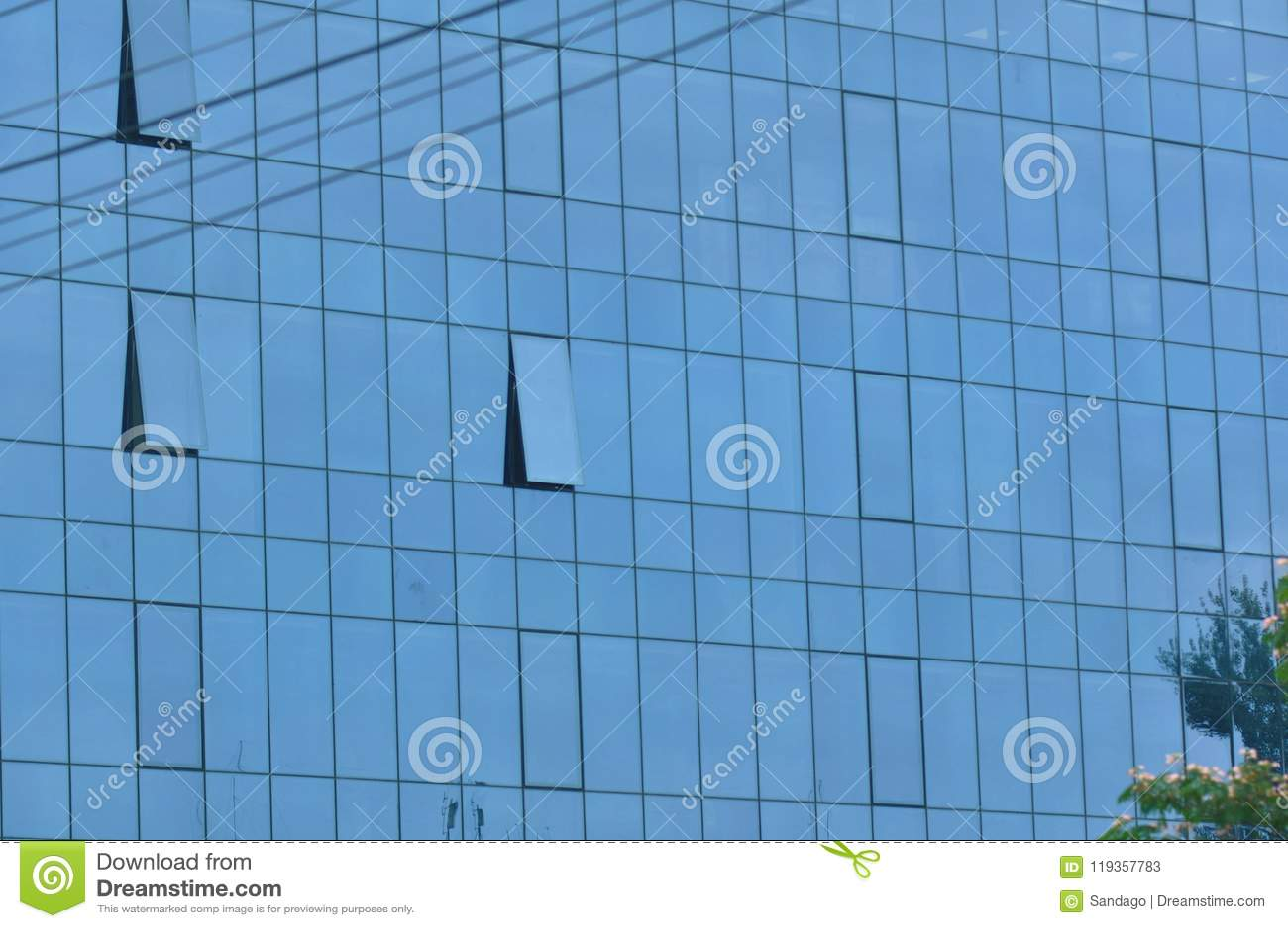 Szkło nowoczesny budynek