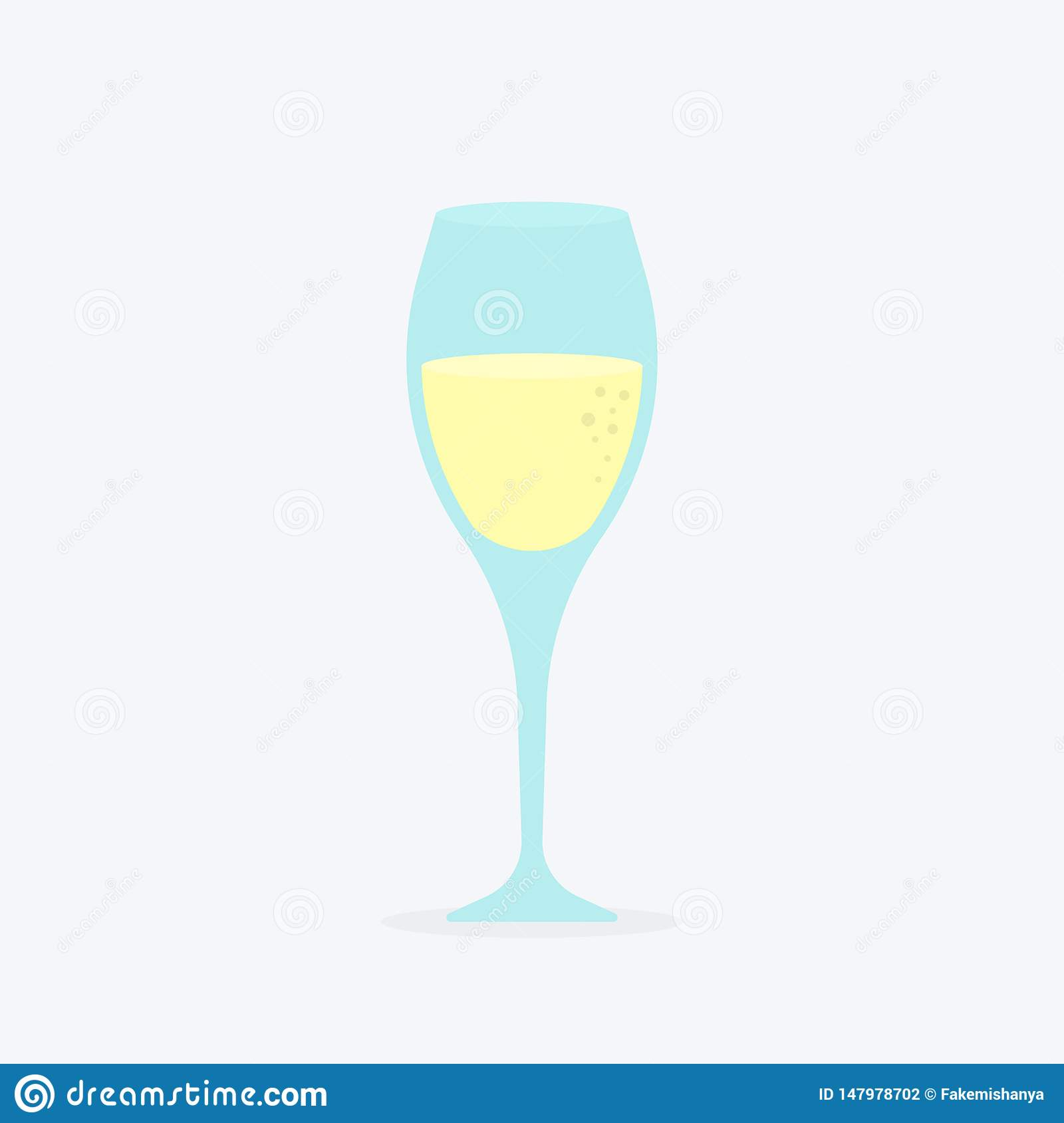 Szkło szampański klasyczny luksusowy alkoholu napój w elity glassware, fizzy drogiego wytwórnia win odświeżający napój z bąblami