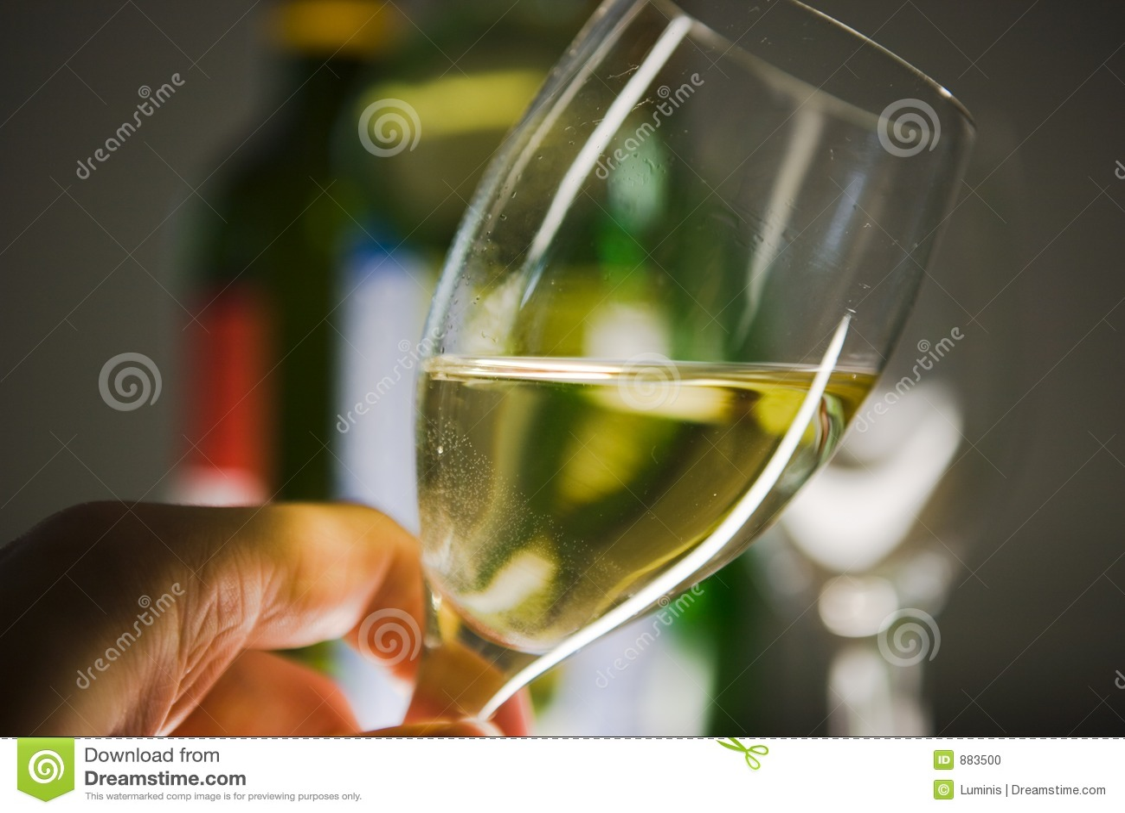 Szkło wina ręki