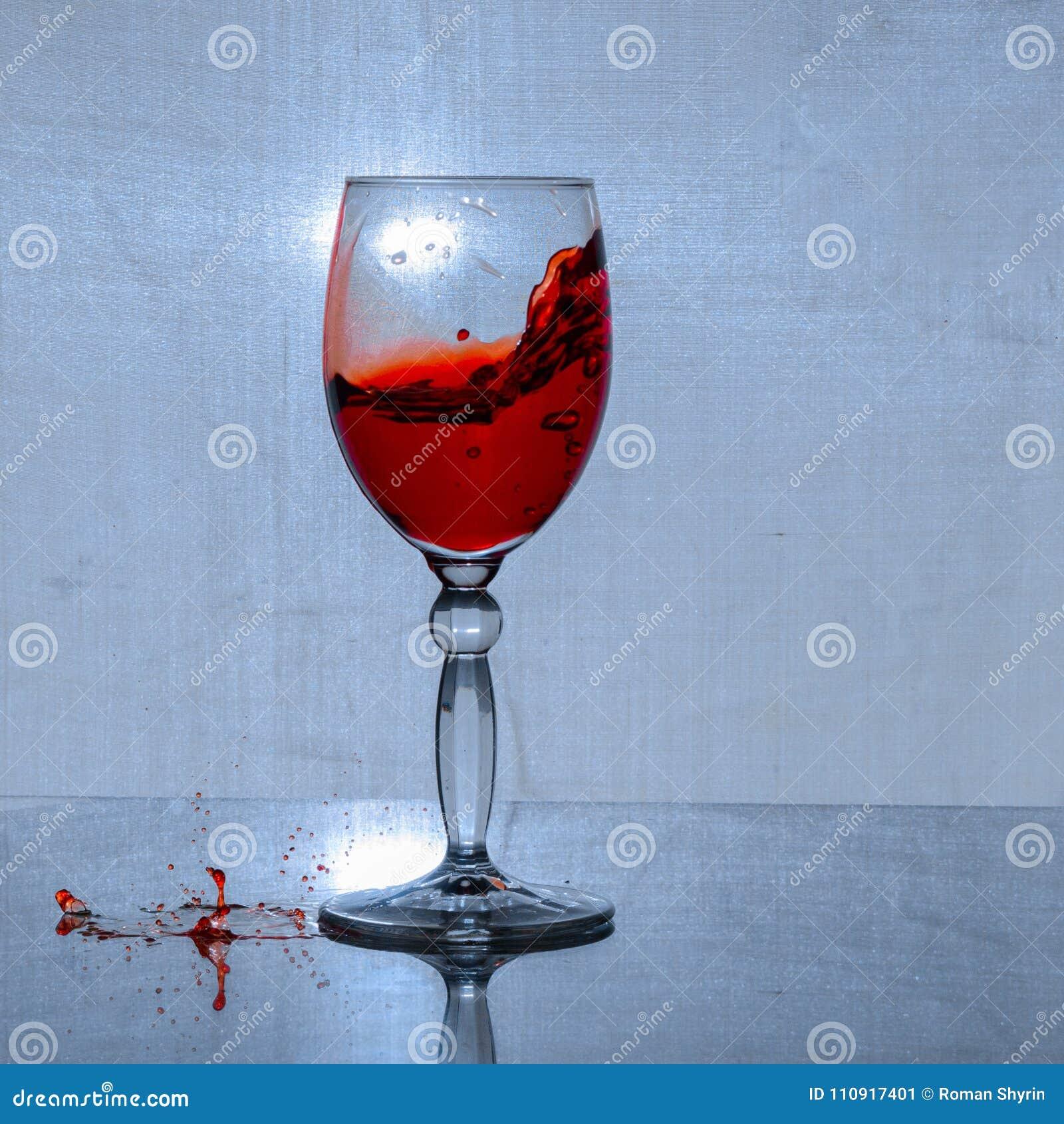 Szkło wino i kiść