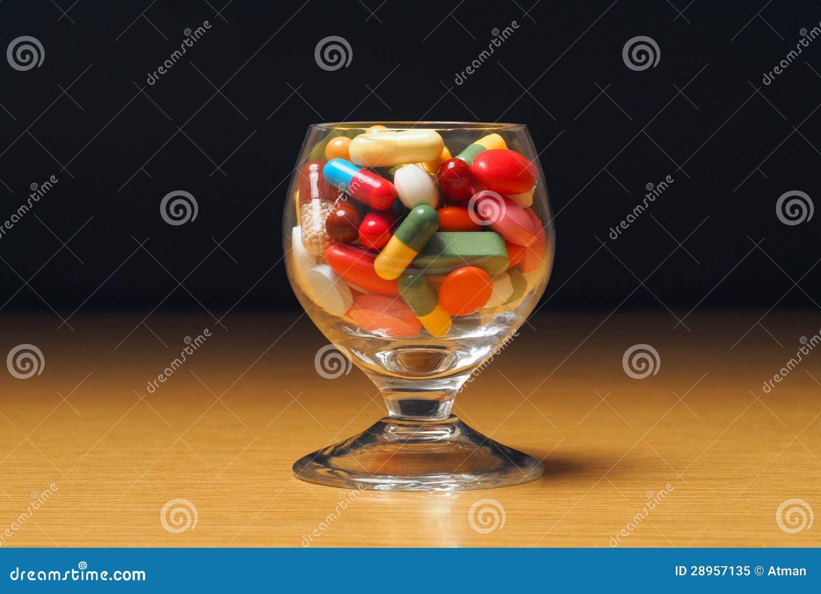 Szkło z medycyną
