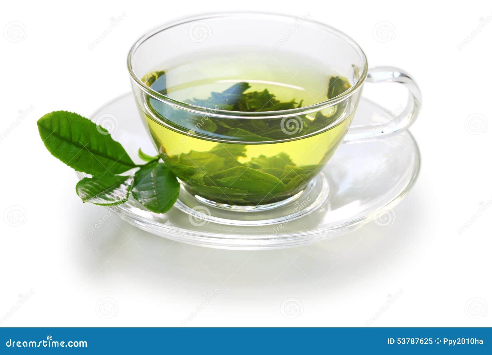 Szklana filiżanka Japońska zielona herbata