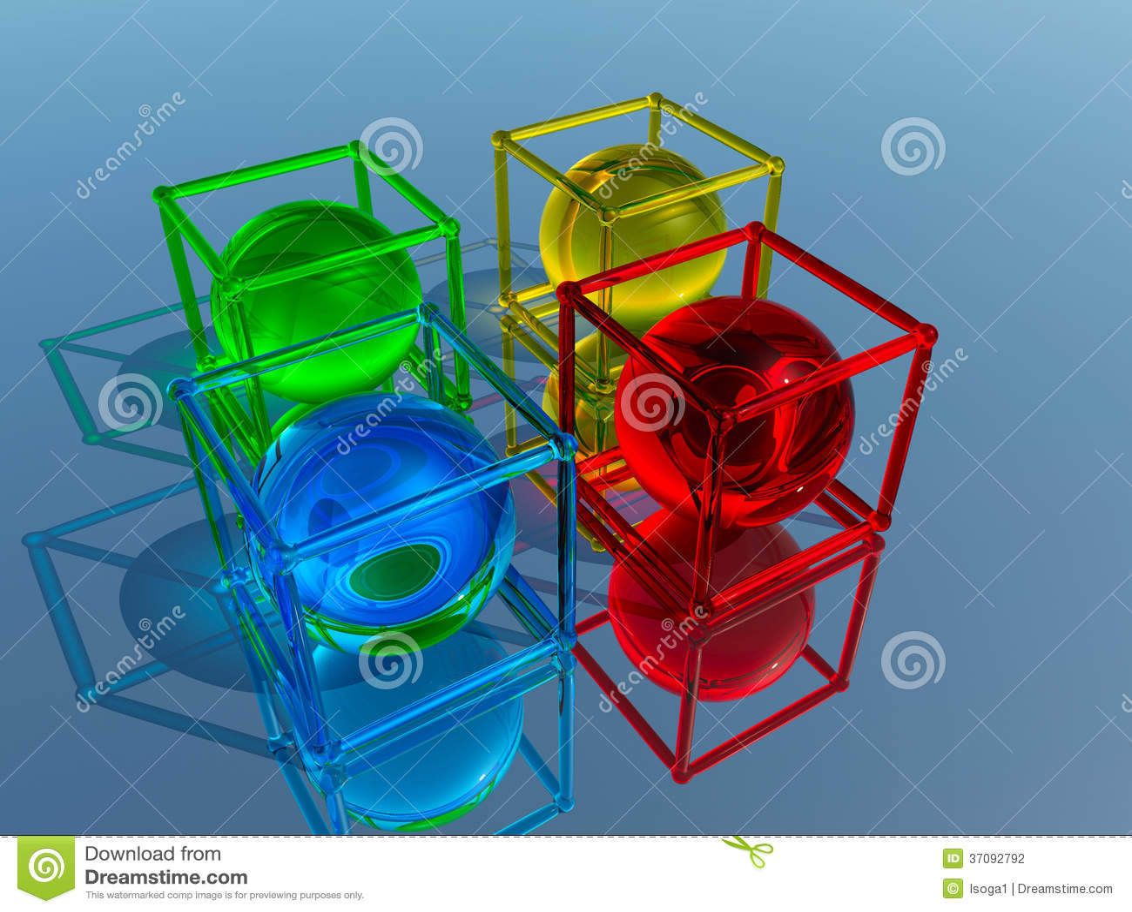 Download Szklane figurki ilustracji. Ilustracja złożonej z tworzenie - 37092792