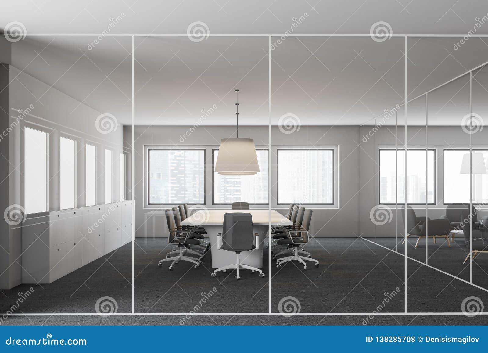 Szklany biurowy pokój konferencyjny