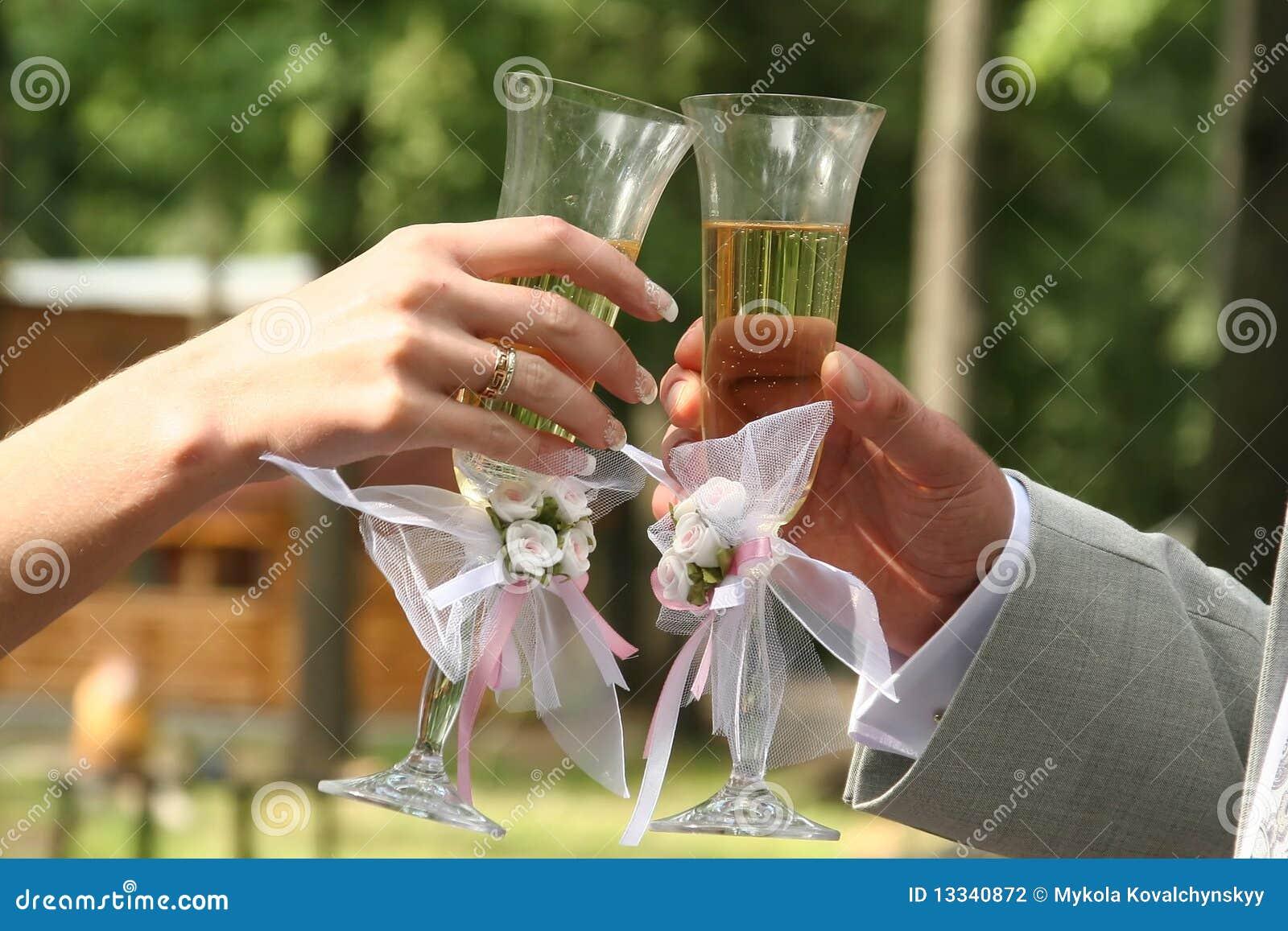 Szklany wino ręka