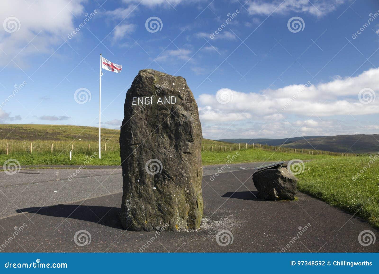 Szkocki - angielszczyzny Graniczą, Northumberland, Zjednoczone Królestwo