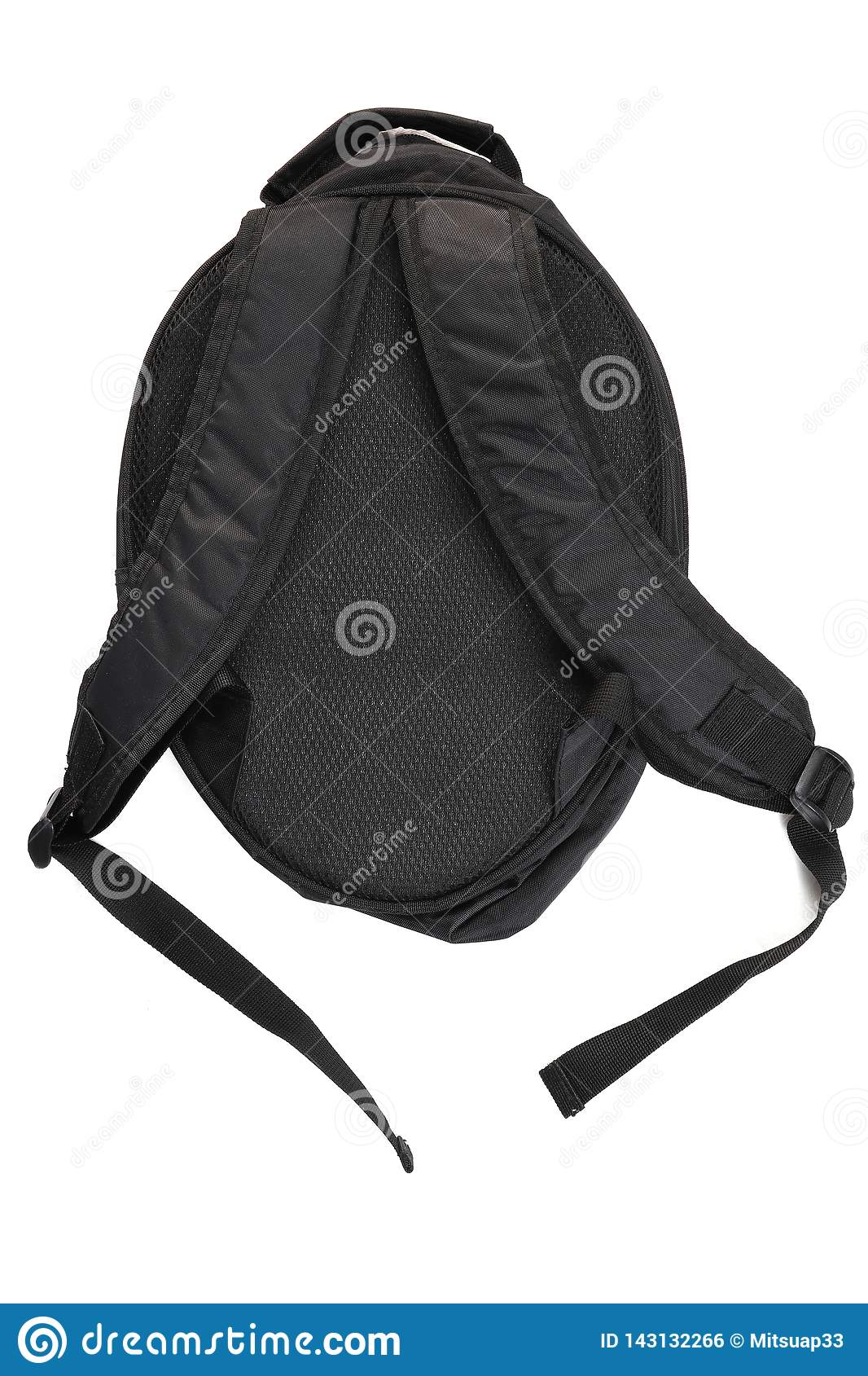 Szkolni plecaki Plecaki dla uczni, uczni, podróżników i turystów, Popiera szkoła, tylna strona, odizolowywająca na czerni