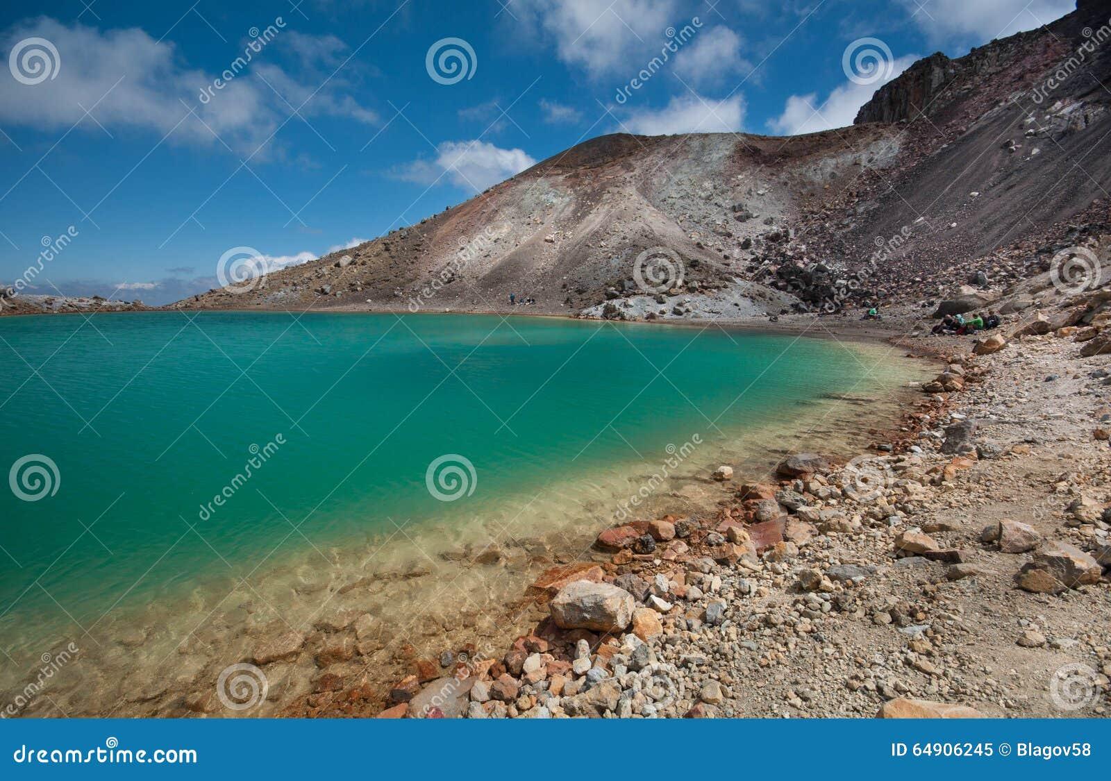 Szmaragdowi jeziora Tongariro skrzyżowanie