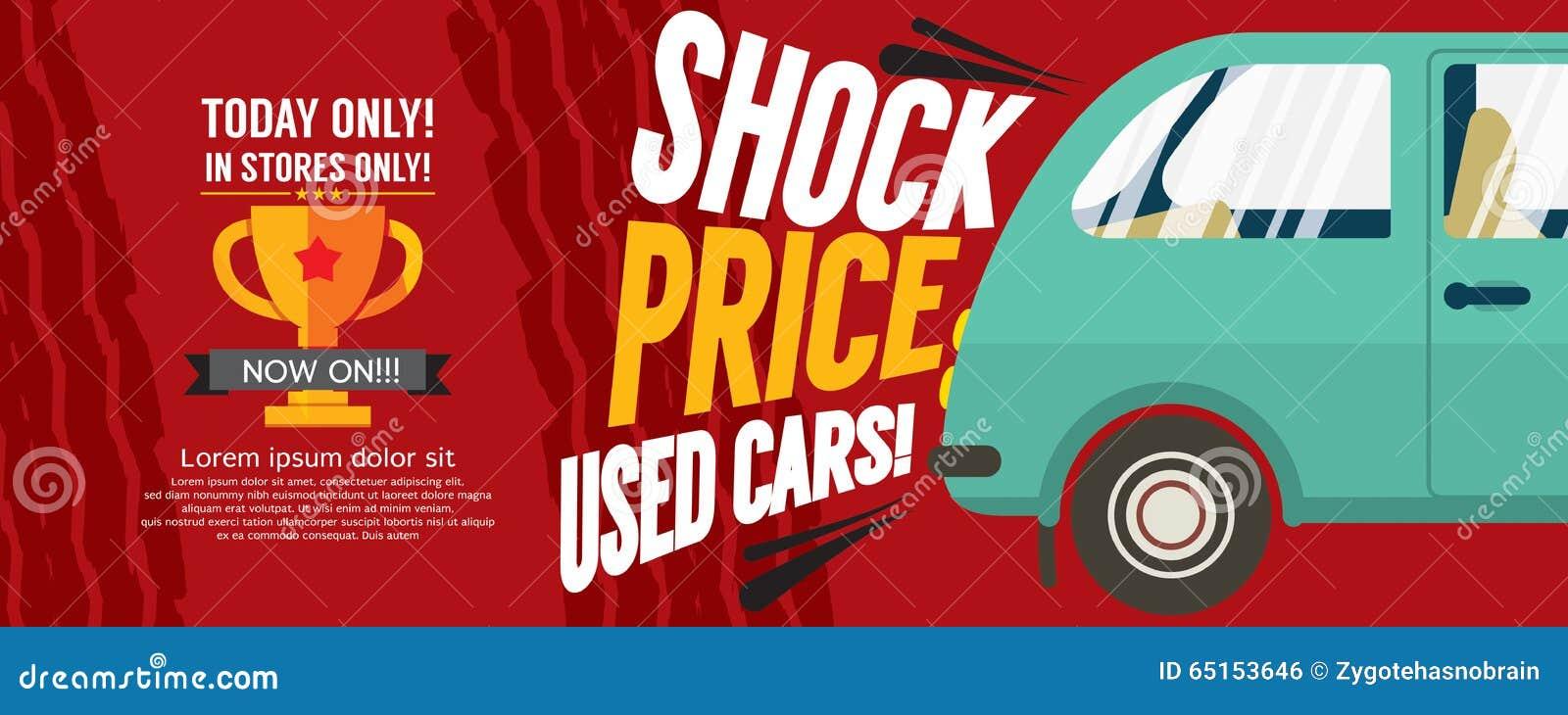 Szokuje cena Używać samochodów sprzedaży 6250x2500 piksla sztandar