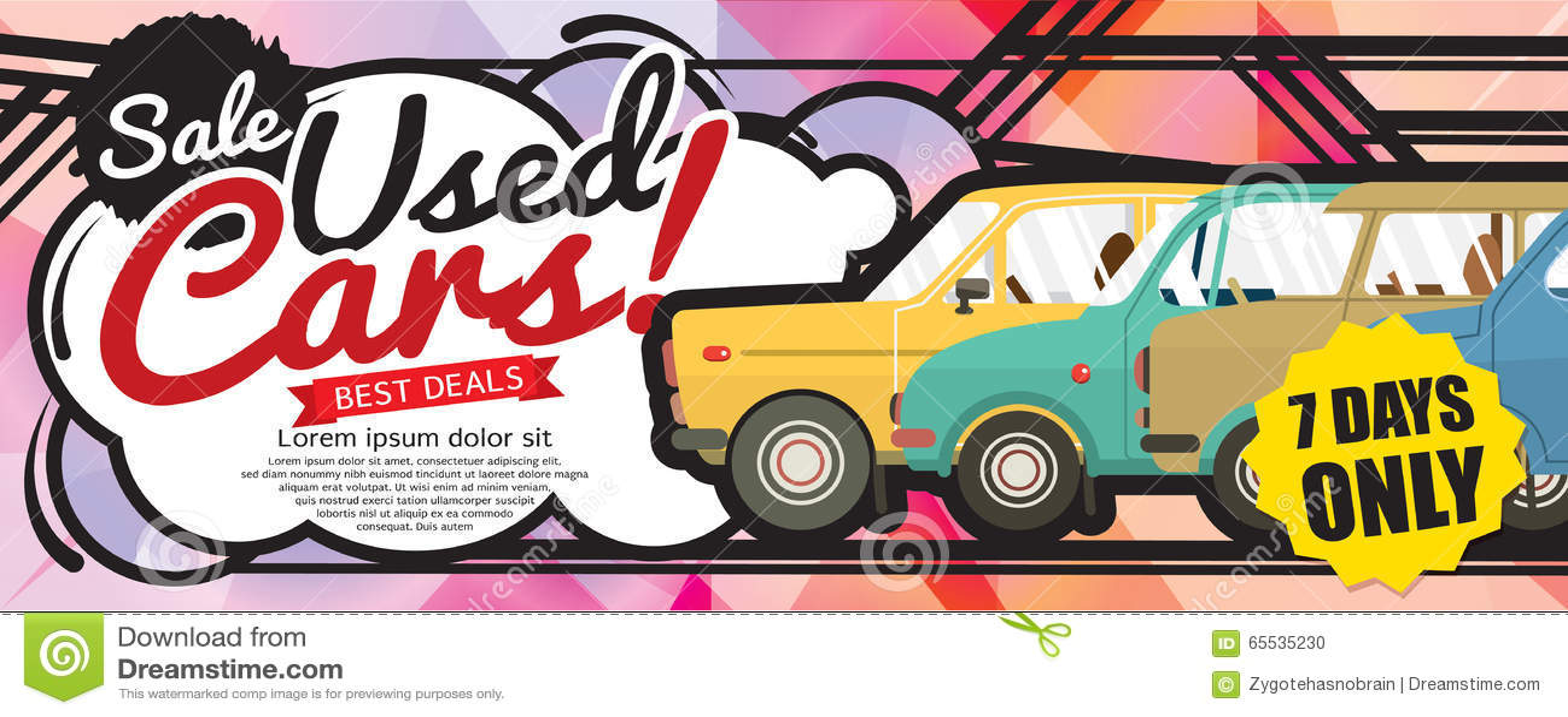 Szokuje cena Używać samochodów sprzedaży 1500x600 piksla sztandar