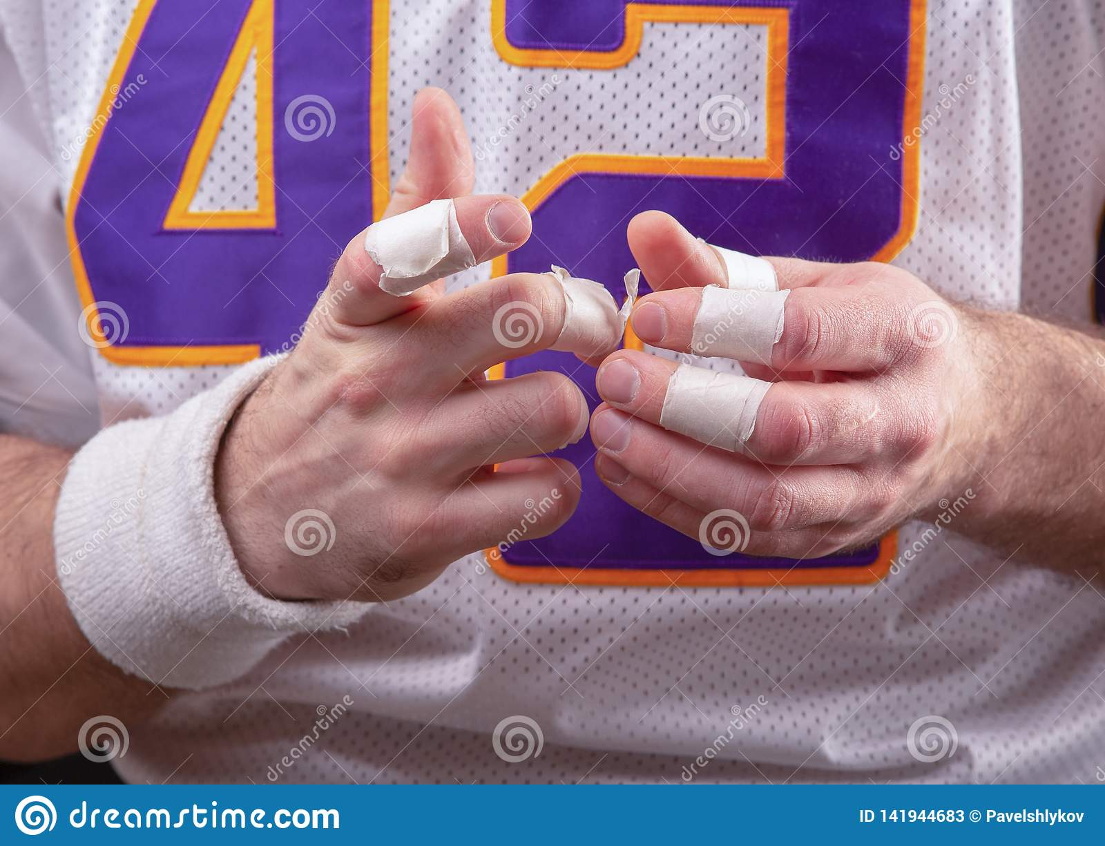 Szorstkie ręki Amerykański futbolista