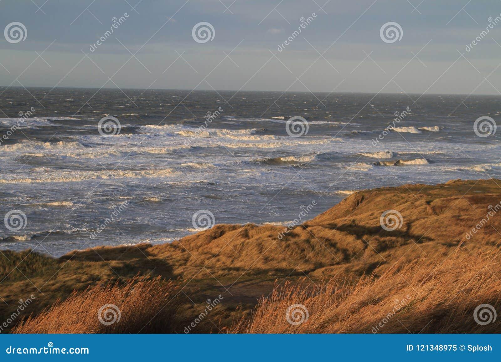 Szorstkie wody przy plażą