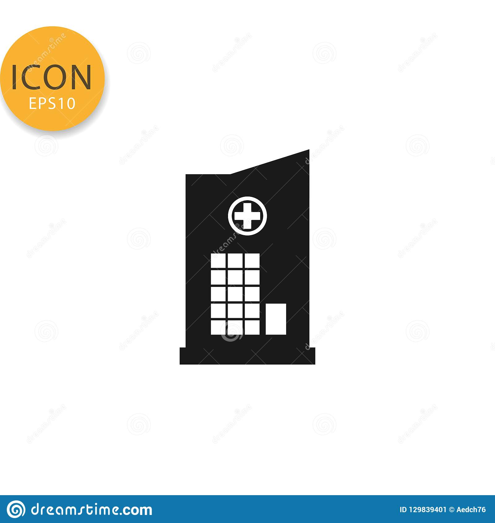 Szpitalna ikona odizolowywający mieszkanie styl