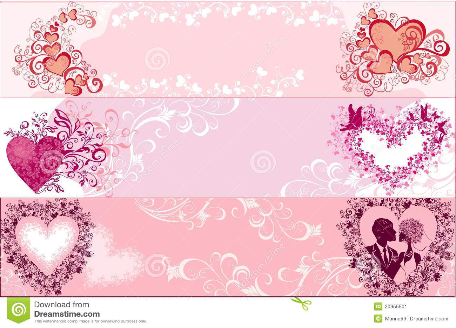 Sztandarów ilustracyjny valentines wektor