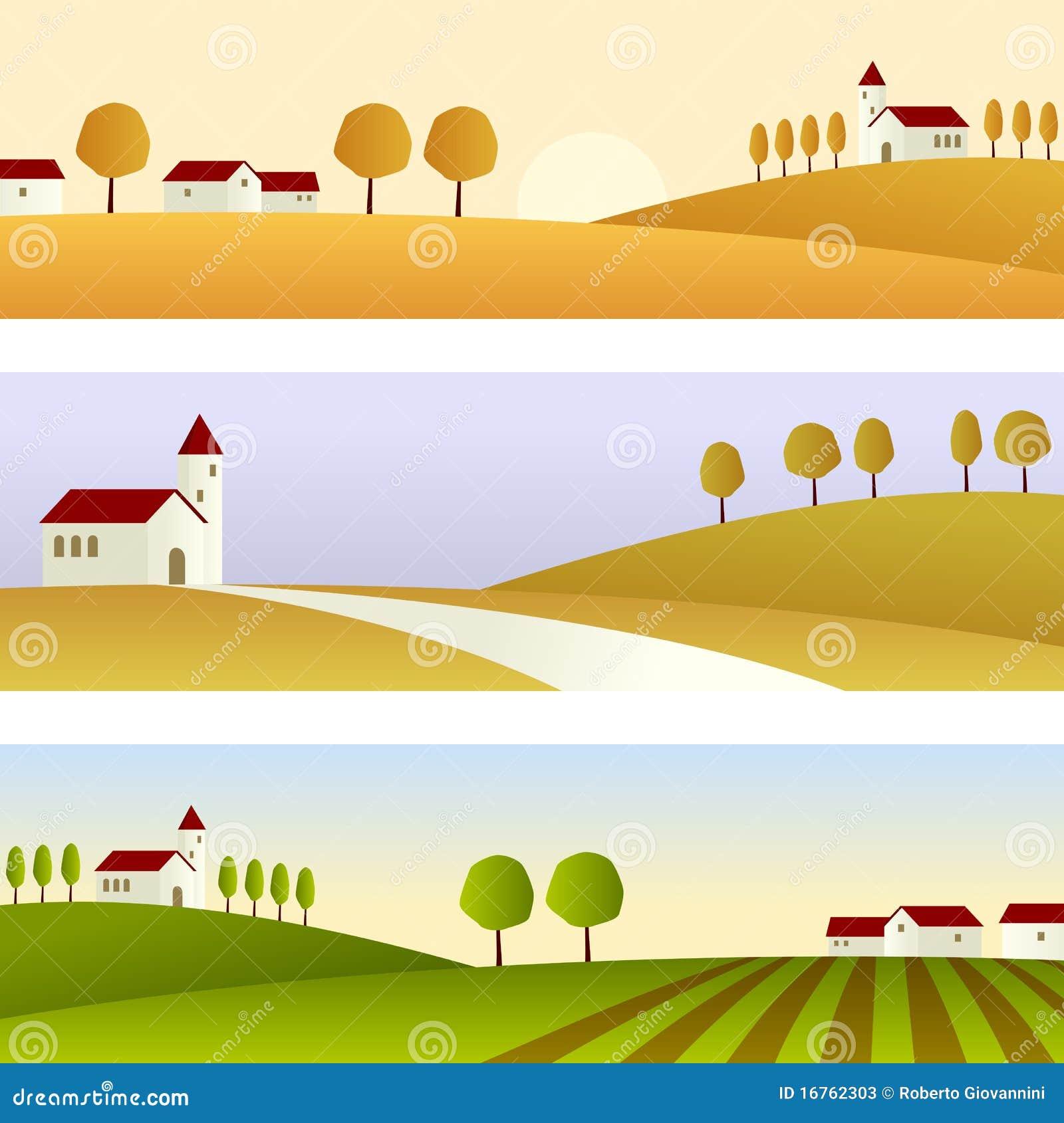 Sztandarów kraju krajobraz