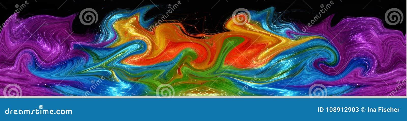 Sztandar kolorowy syntetyczny włosy