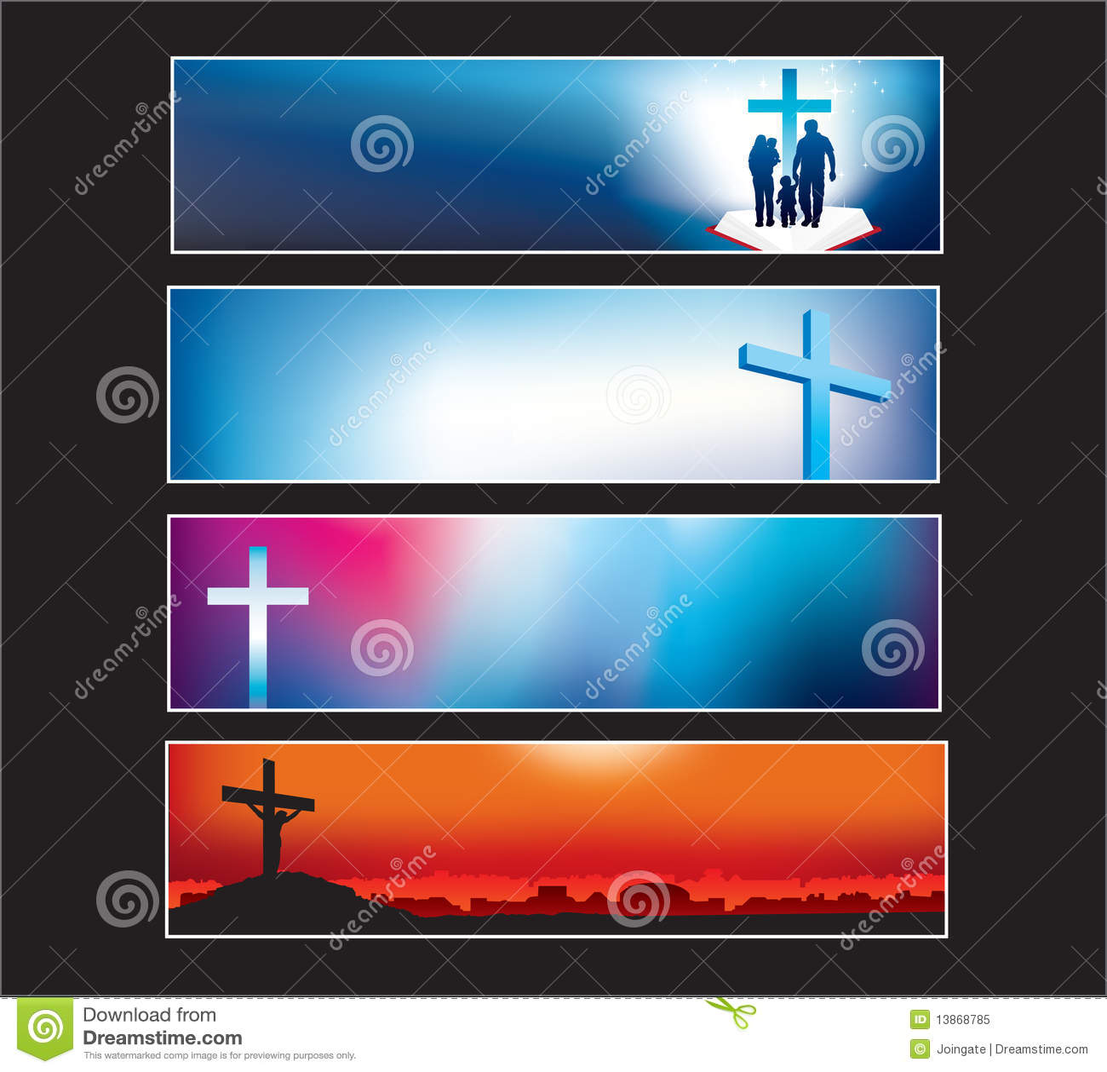 Sztandar strona internetowa chrześcijańska nowożytna ustalona