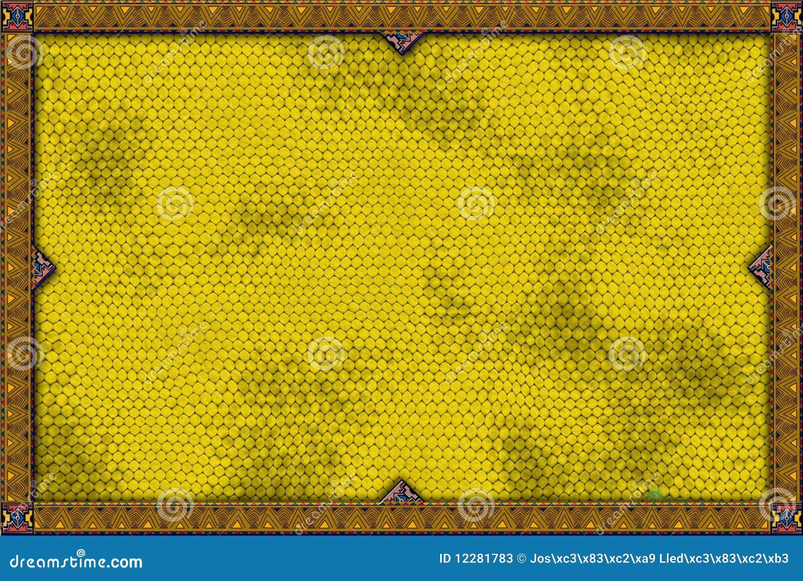 Sztandaru jaszczurki kolor żółty