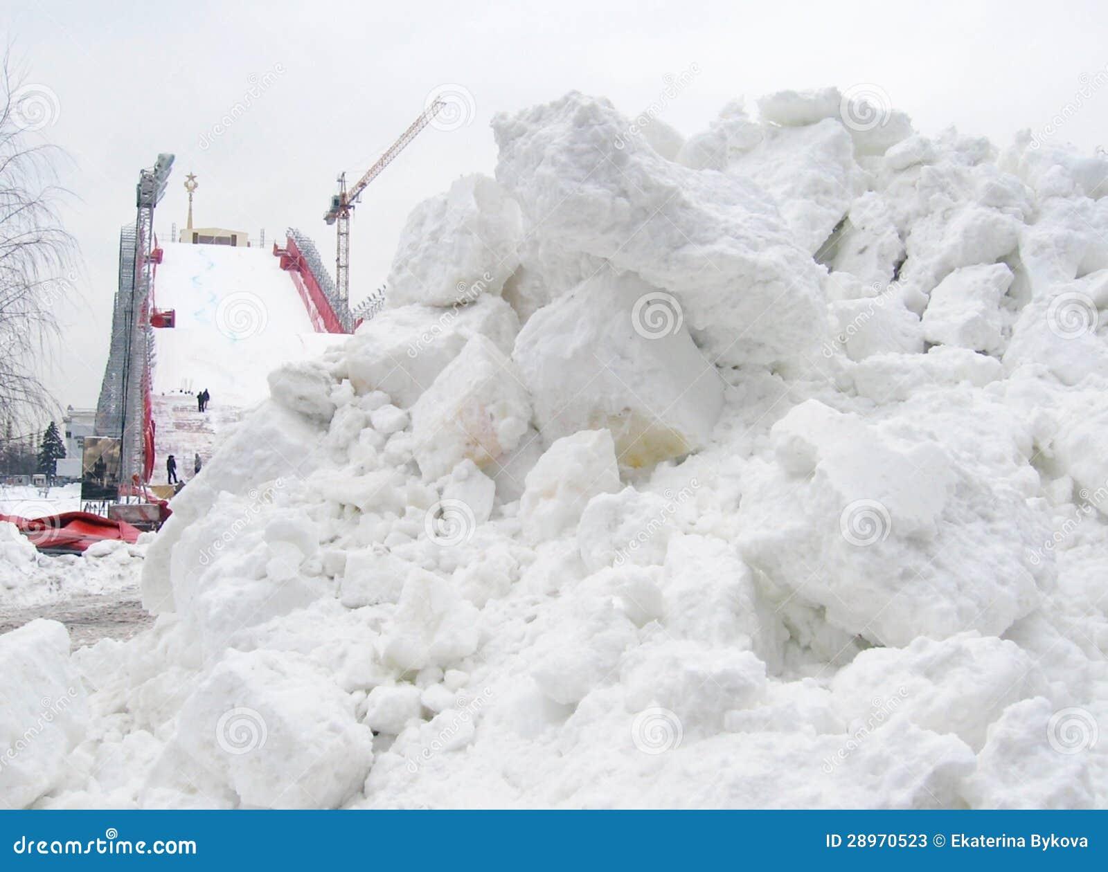 Sztuczna narciarska skłon budowa