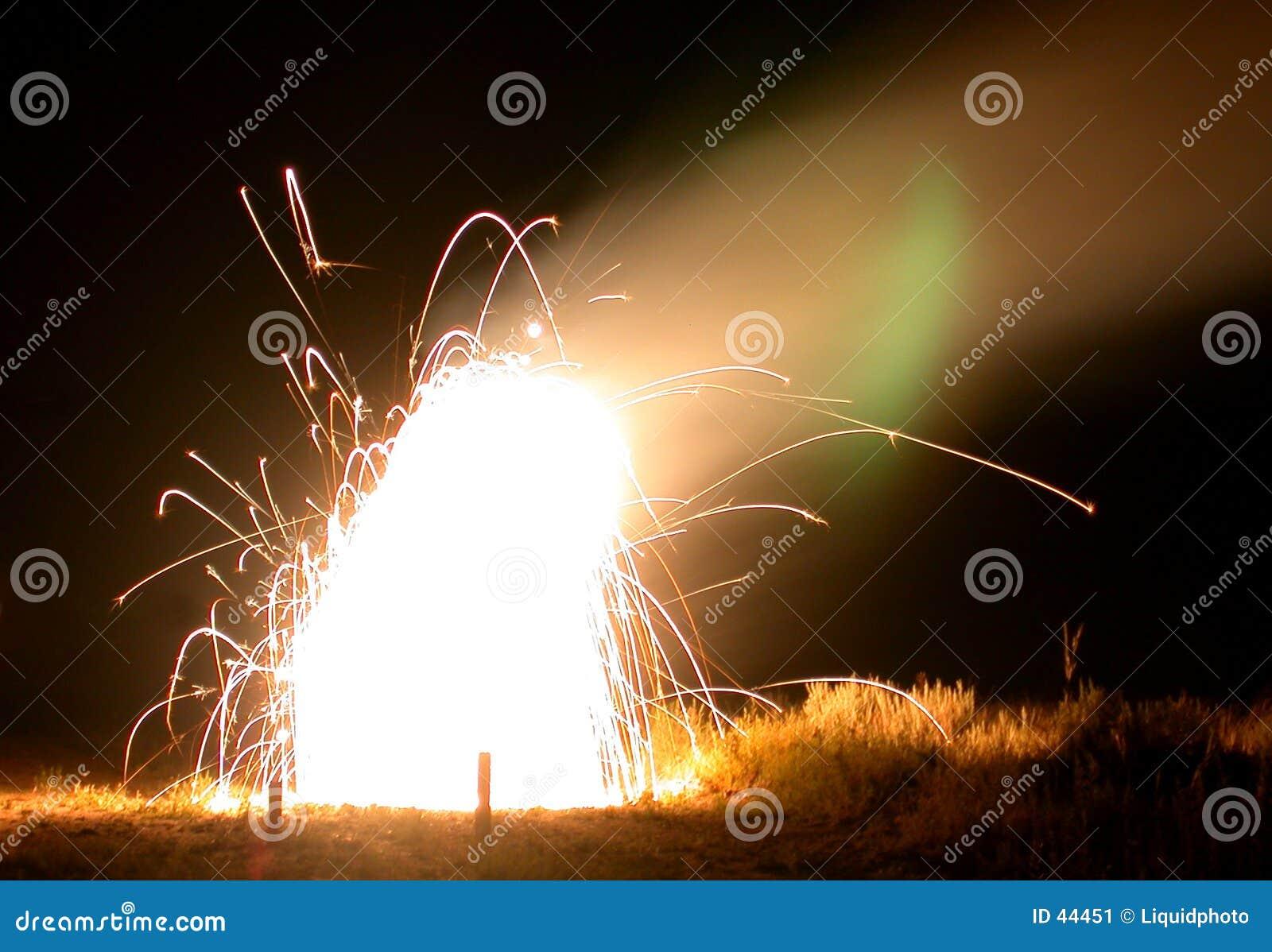 Sztuczne ognie ogniska