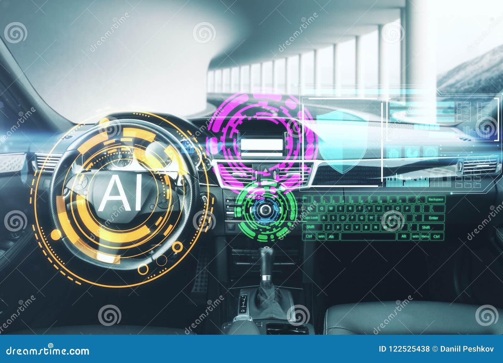Sztucznej inteligenci i pojazdu pojęcie