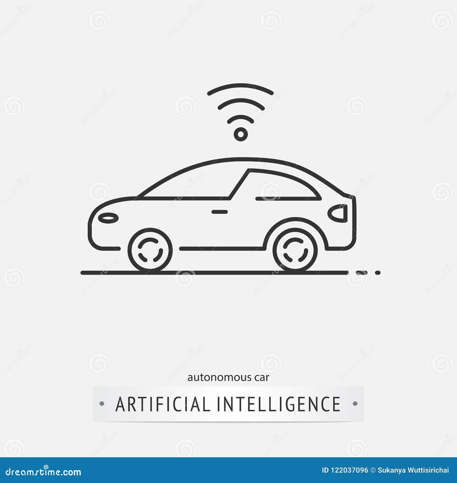 Sztucznej inteligenci ikony projekt