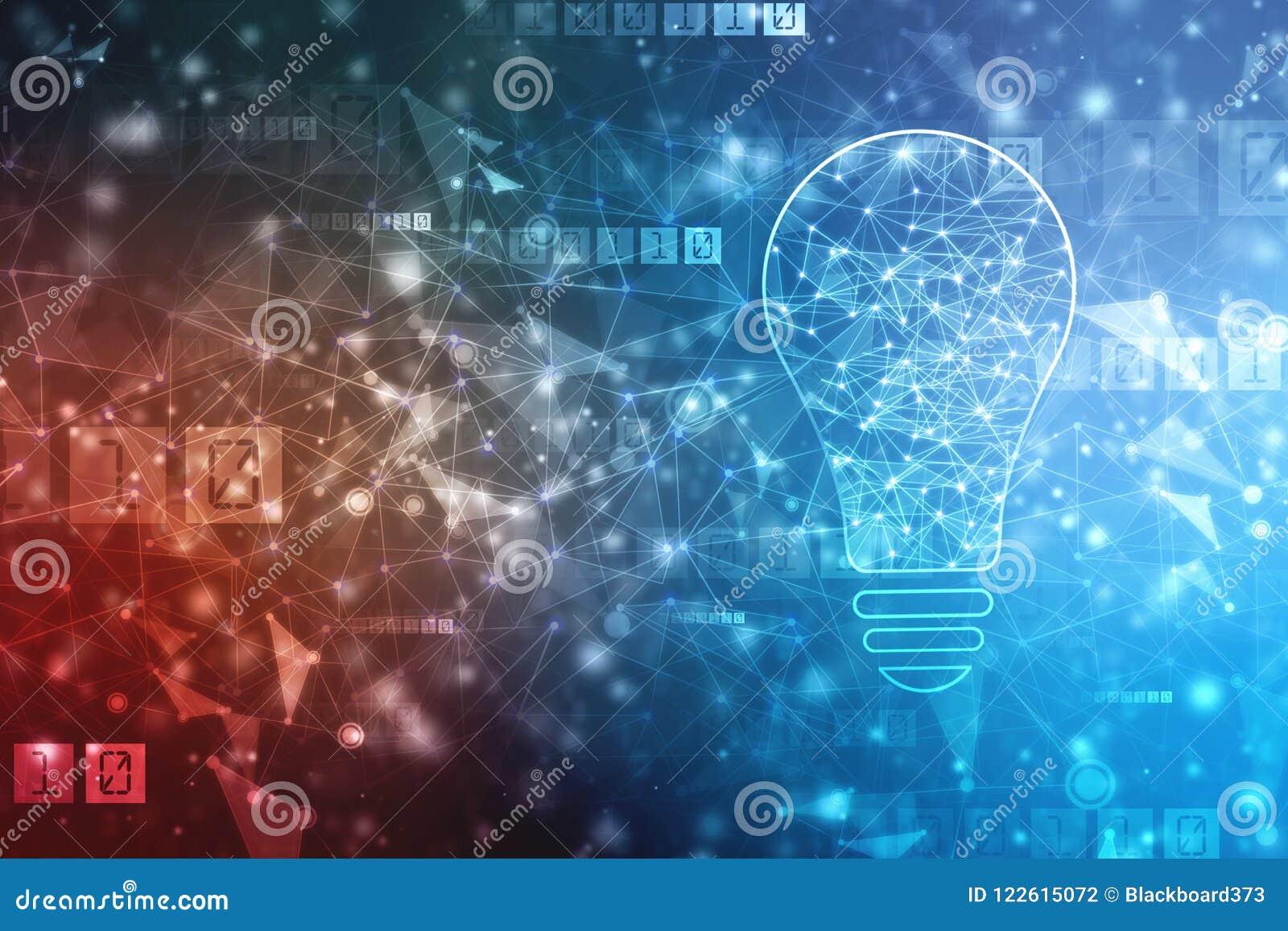 Sztucznej inteligenci tło, innowaci tło