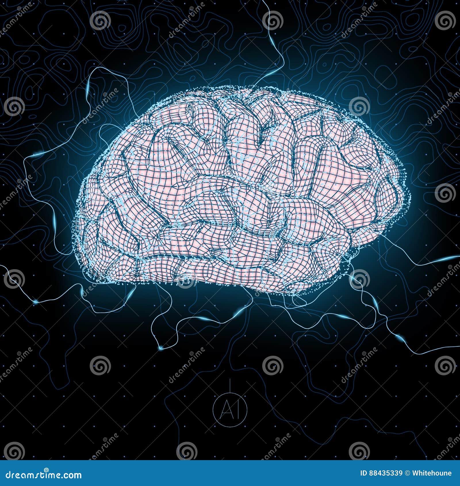 Sztuczny móżdżkowy obwodów pojęcia elektronicznej inteligenci mainboard