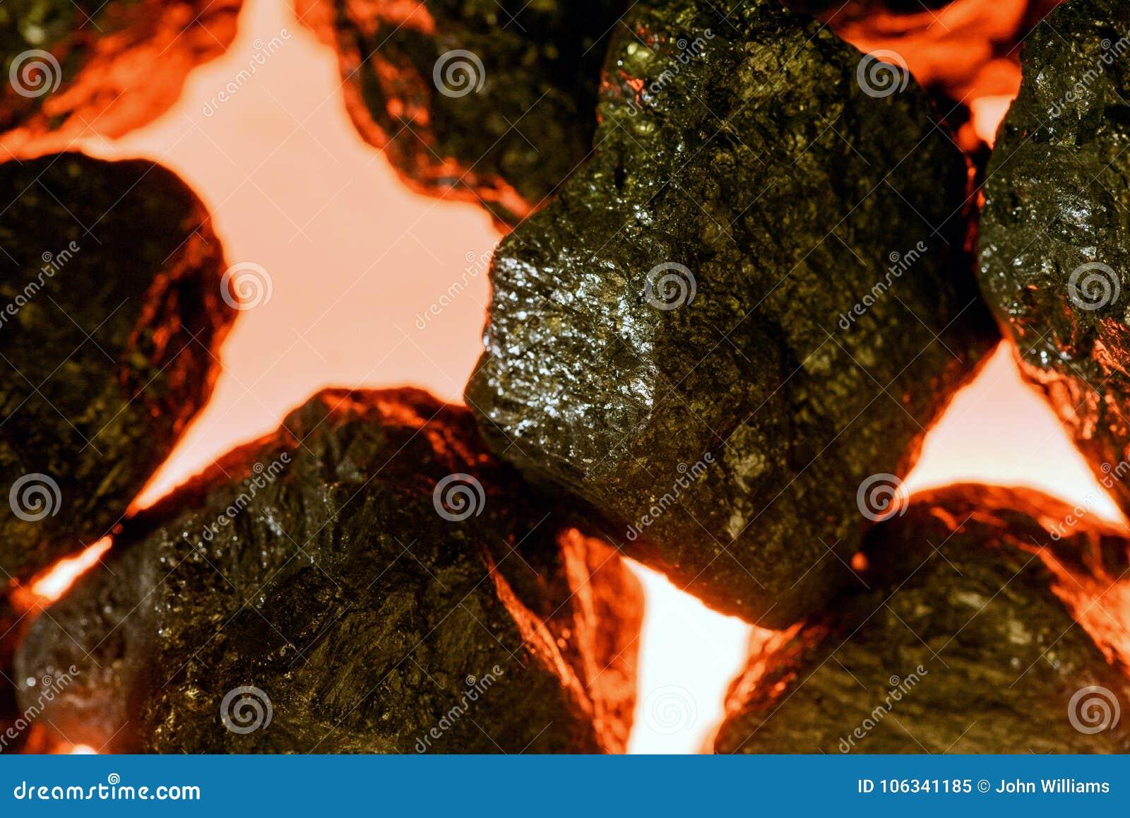 Sztuczny węgiel i imitacja ogień