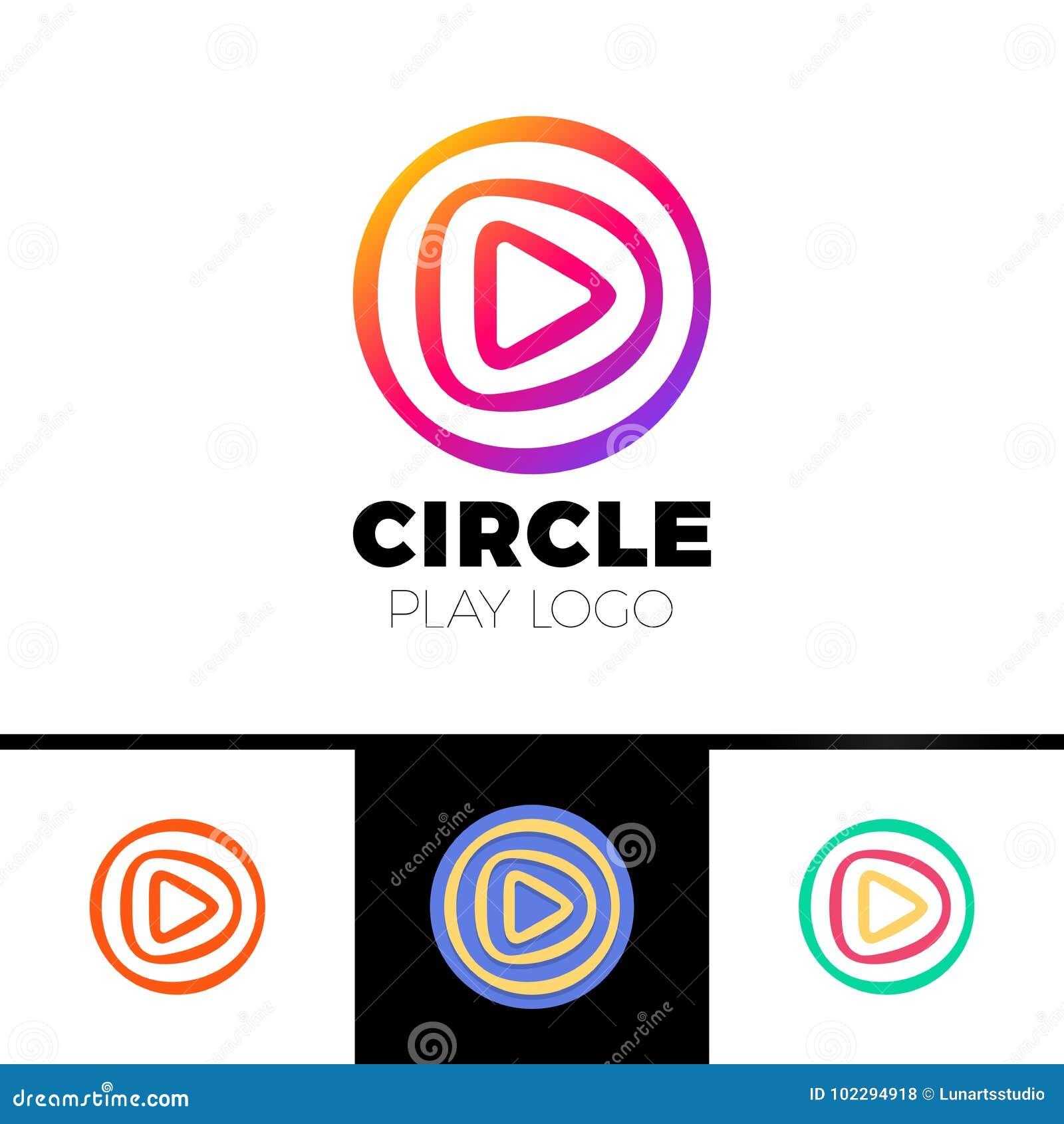 Sztuka film - loga szablonu pojęcia ilustracja Muzyki lub filmu gracza ikony zastosowanie Multimedia znak Cyfrowego tv symbol