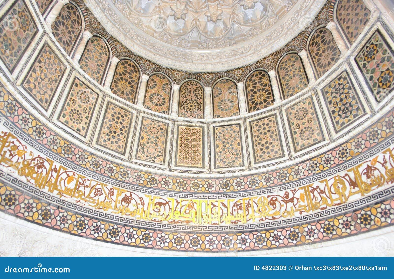 Sztuka meczetu wzorów historycznej islamskiej ściany