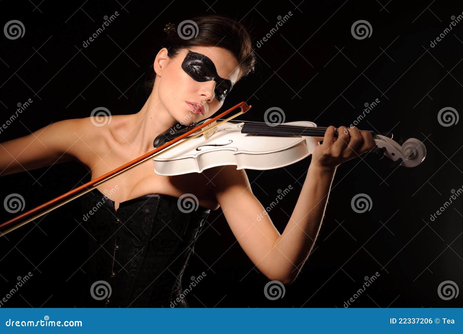 Sztuka skrzypce biała kobieta