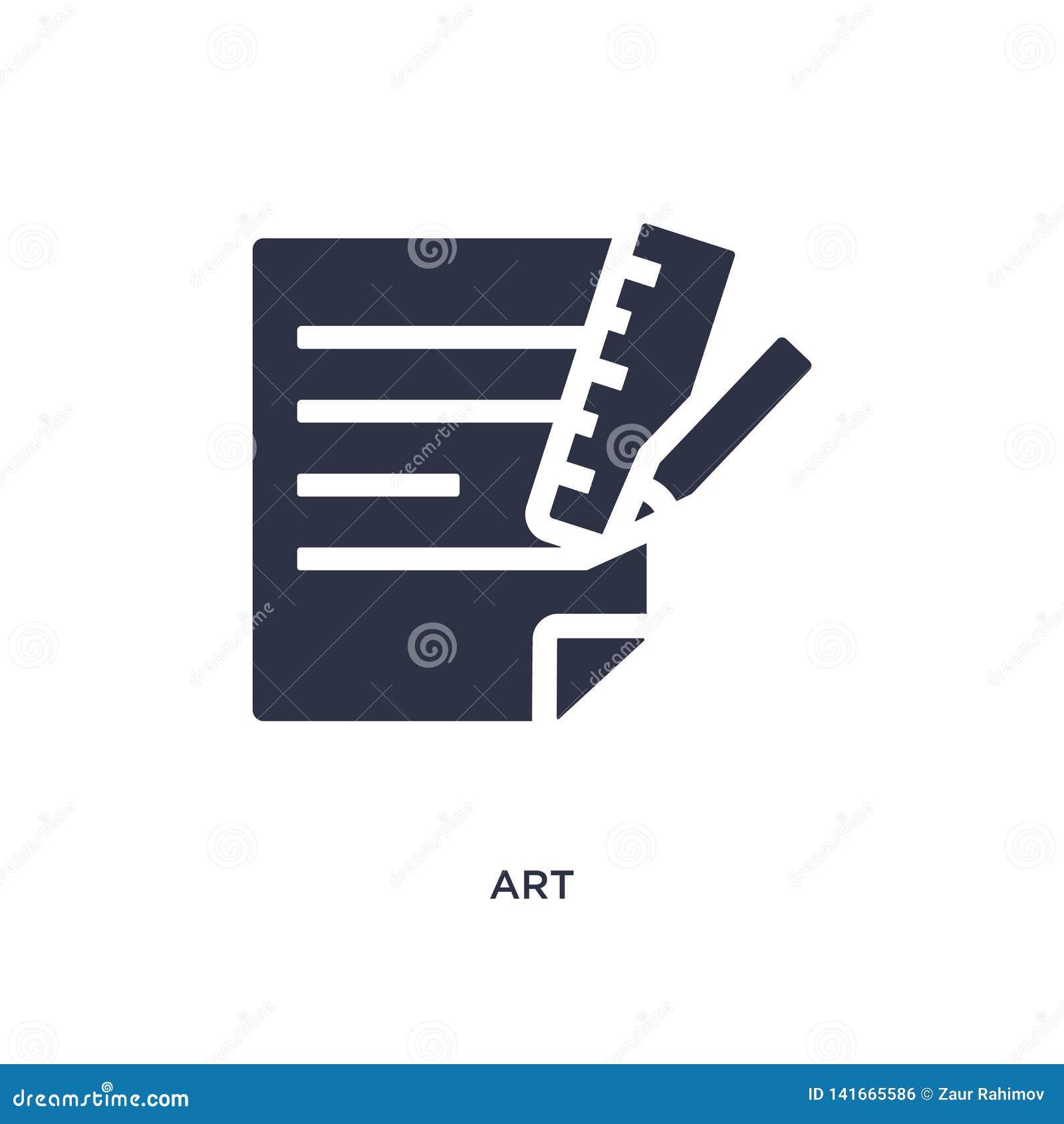 Sztuki ikona na białym tle Prosta element ilustracja od akcydensowego życiorysu pojęcia