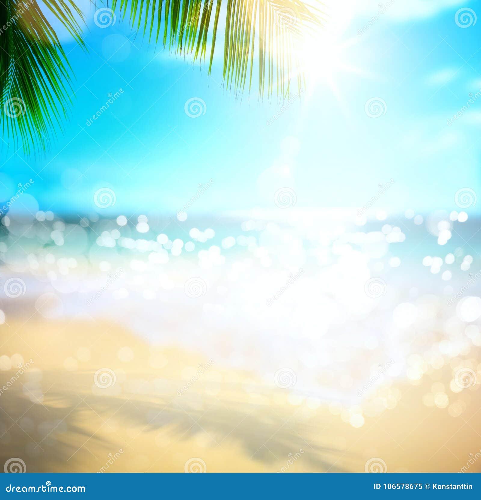Sztuki morza wakacje; tropikalny plażowy tło