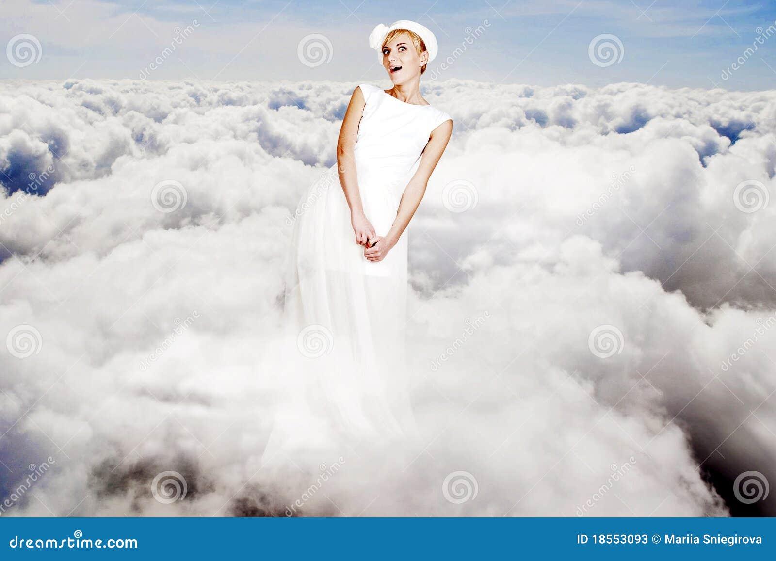 Sztuki piękna kolażu nieba kobiety potomstwa