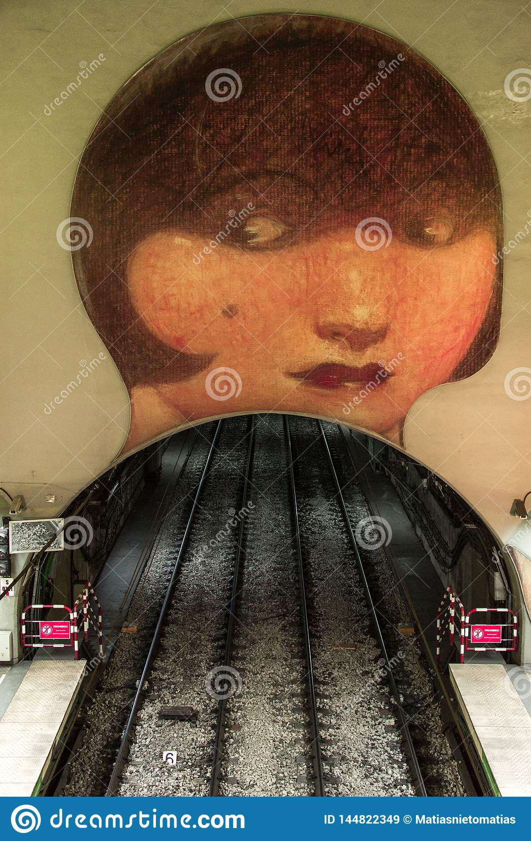 Sztuki praca w Wenezuela stacji metrej w H linii, Buenos Aires Argentyna