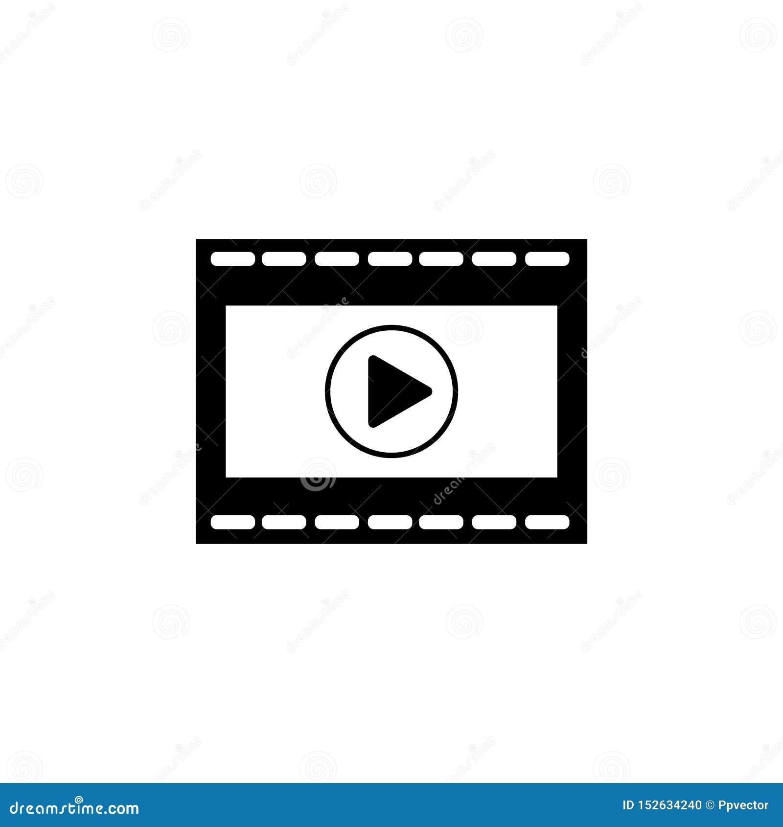 Sztuki wideo wektorowa ikona
