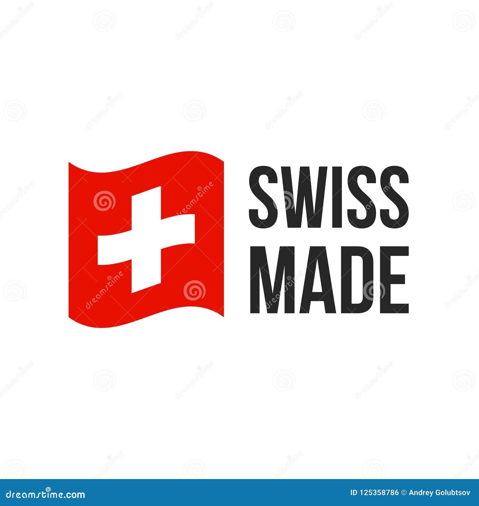 Szwajcarska robić wektorowa Szwajcaria flaga foki ikona